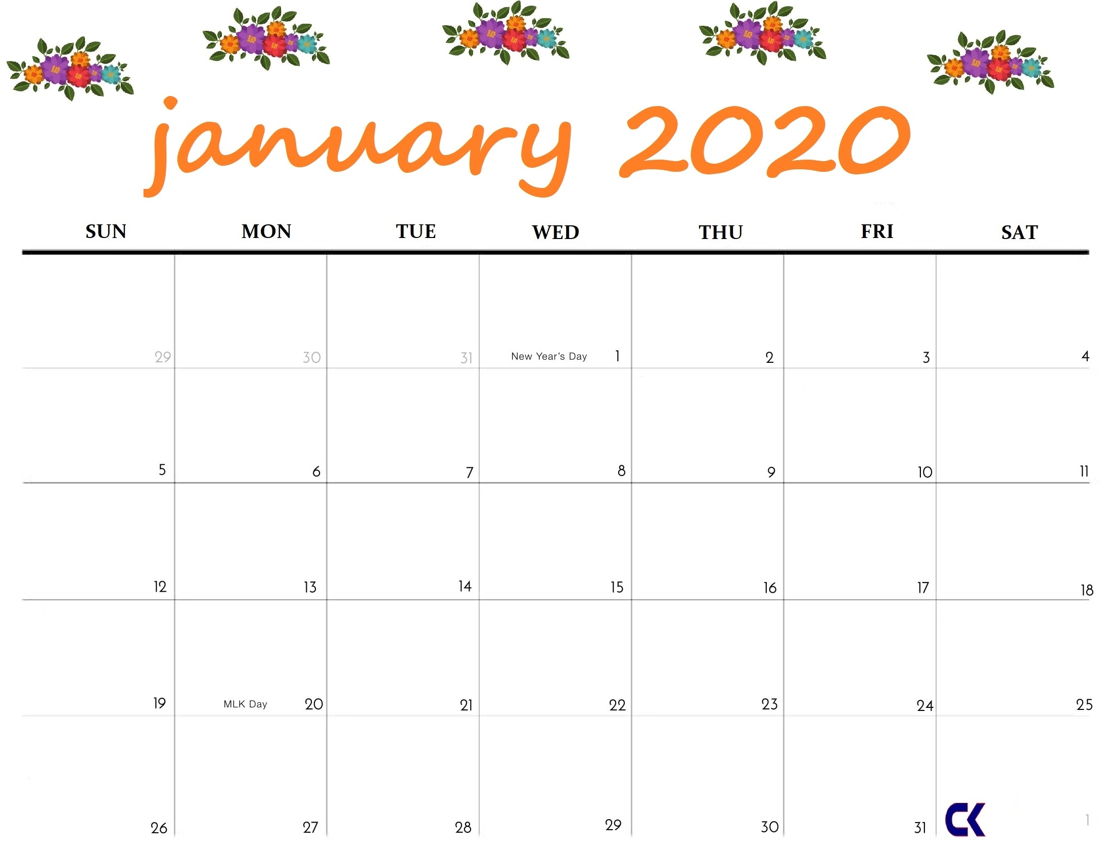 Printable January 2020 Calendar - Perky Printable Calendar 2020 Of Ridiculous Holidays