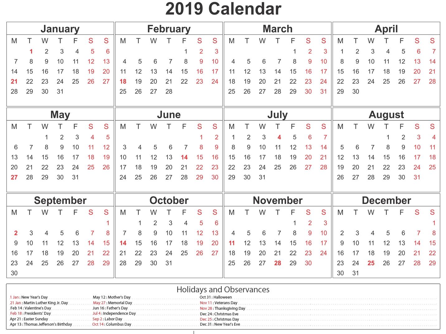 Printable South Africa 2019 Calendar #southafrica #calendar Year 2020 Calender - South Africa