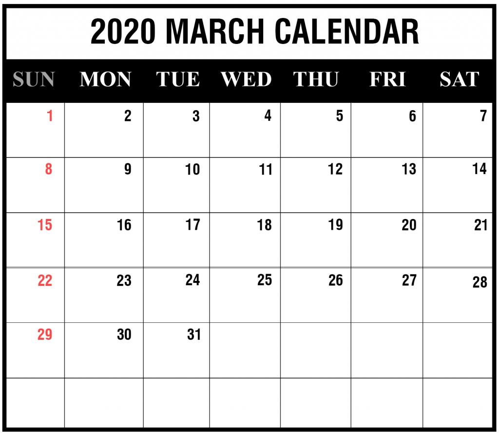 Printable Template Calendar Incredible 2020 Printable Calendars Including Holidays And Jewish Holidays