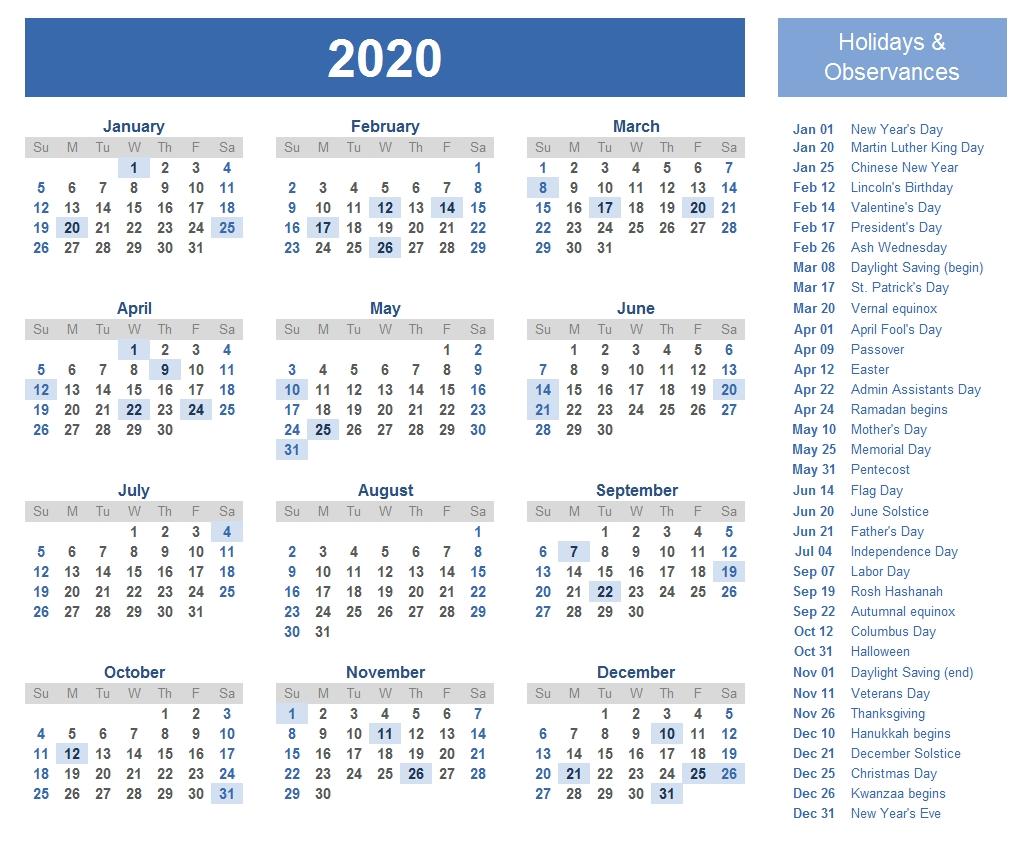 Printable Template Calendar Printable Jewish Holiday Calendar 2020