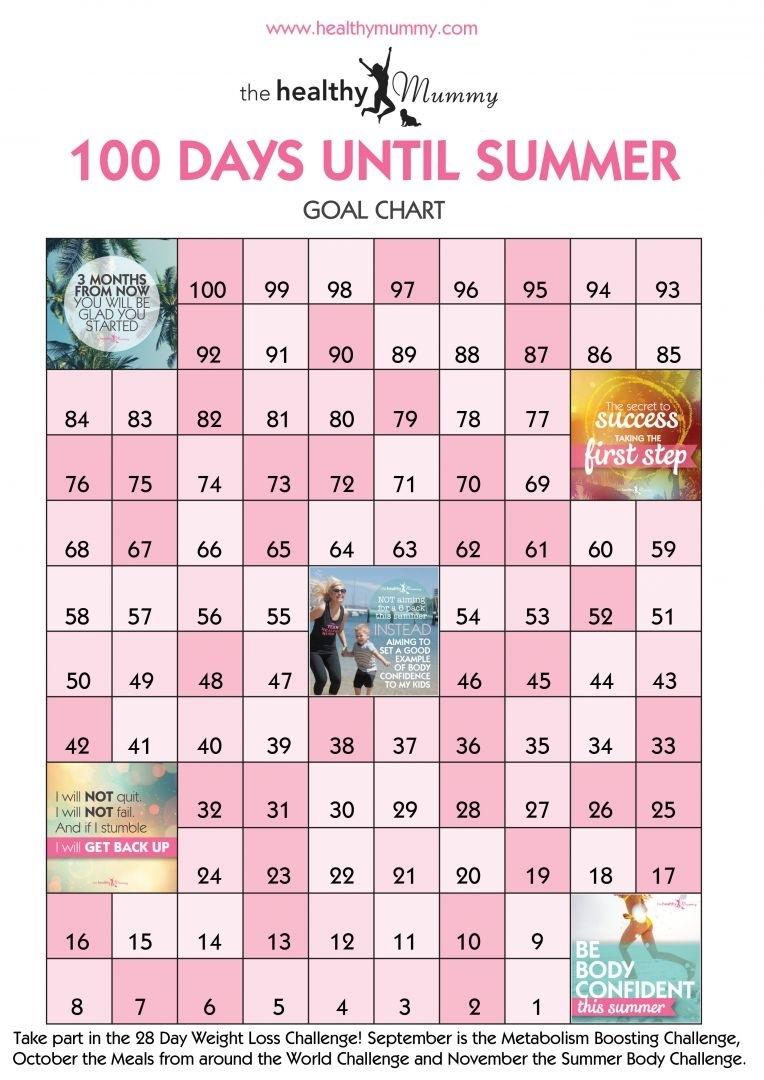 Satisfactory 100 Day Countdown Printable | Marsha Website Remarkable 100 Day Countdown Calendar Printable