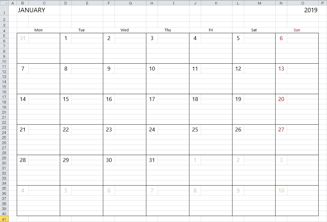 Simple Excel Calendar Template Create A Calendar Printable In Excel