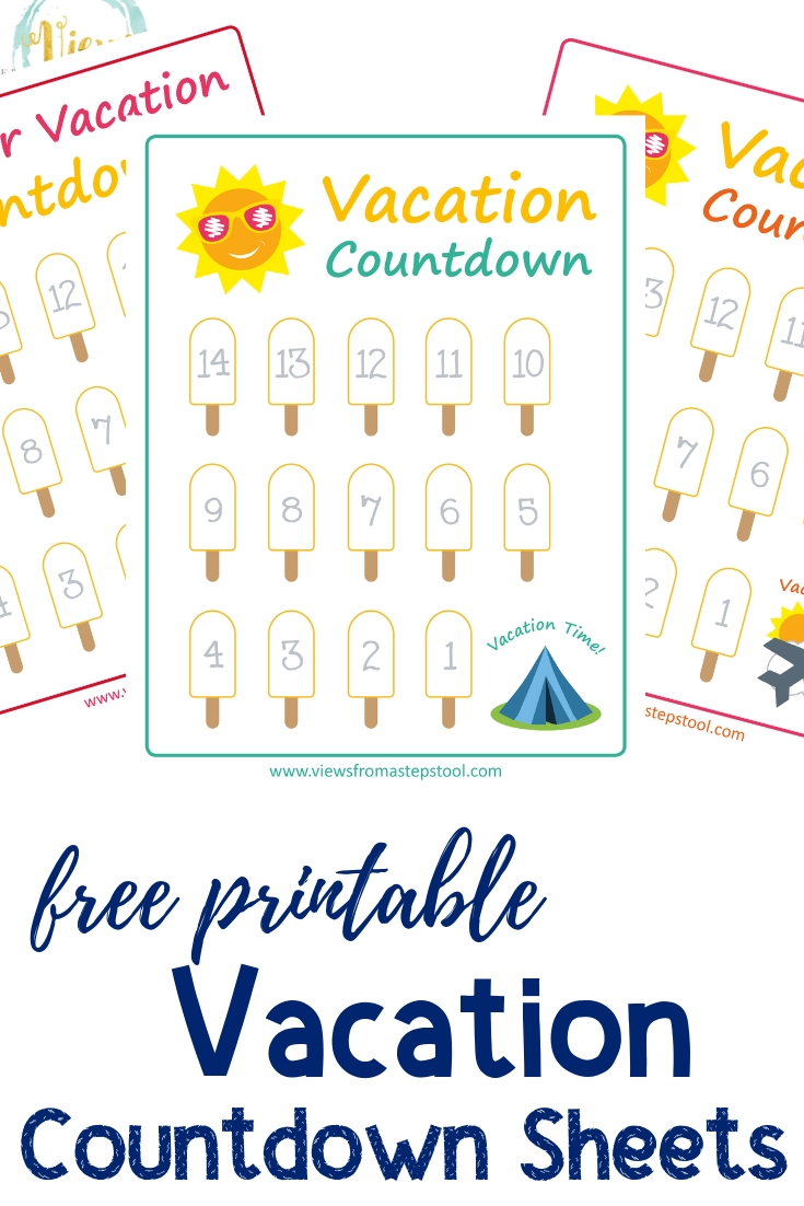 The Best Vacation Countdown Calendar Printable | Bates's Website 100 Day Countdown Calendar Printable