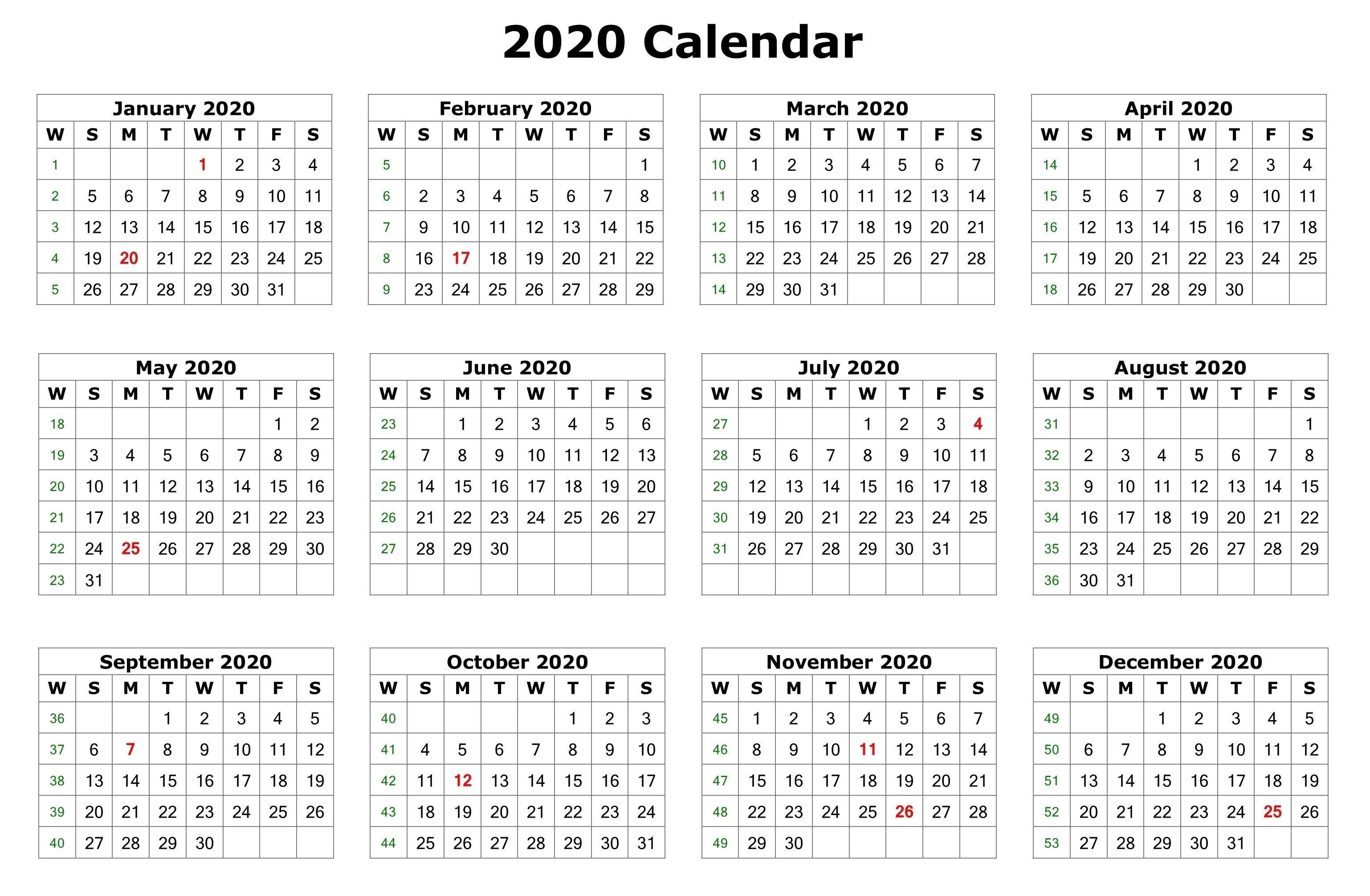 Twelve Month Calendar 2020 - Colona.rsd7 Perky 2020 Calendar Uk Printable A4