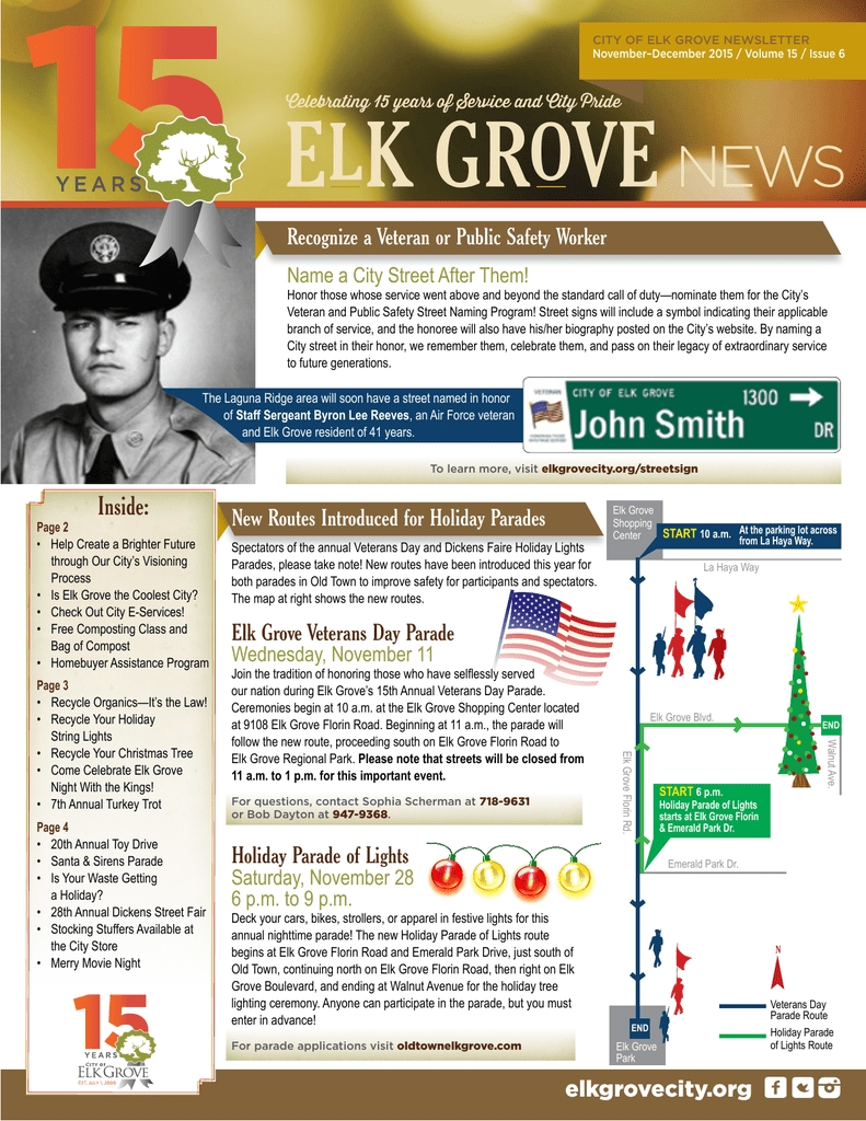 View Newsletter - City Of Elk Grove Exceptional Elk Grove Elementary School Calendar