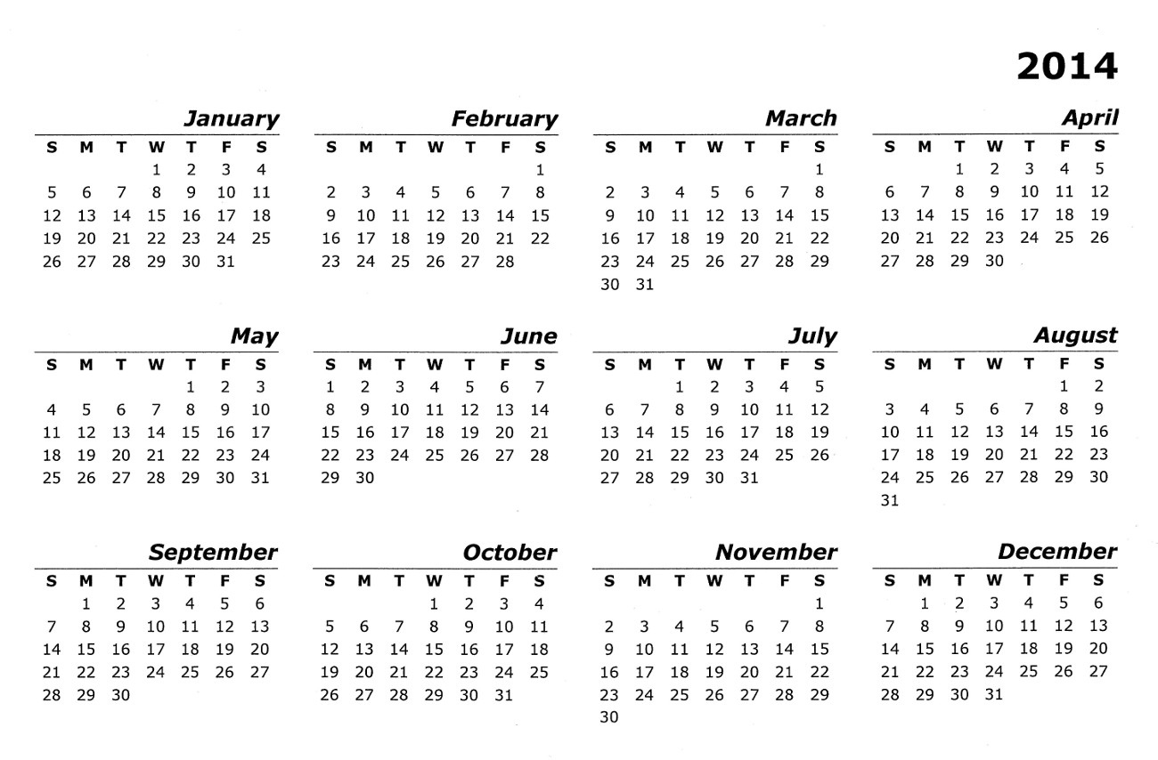What Is This Calendar Called? - English Language & Usage Calendars For The Whole Year