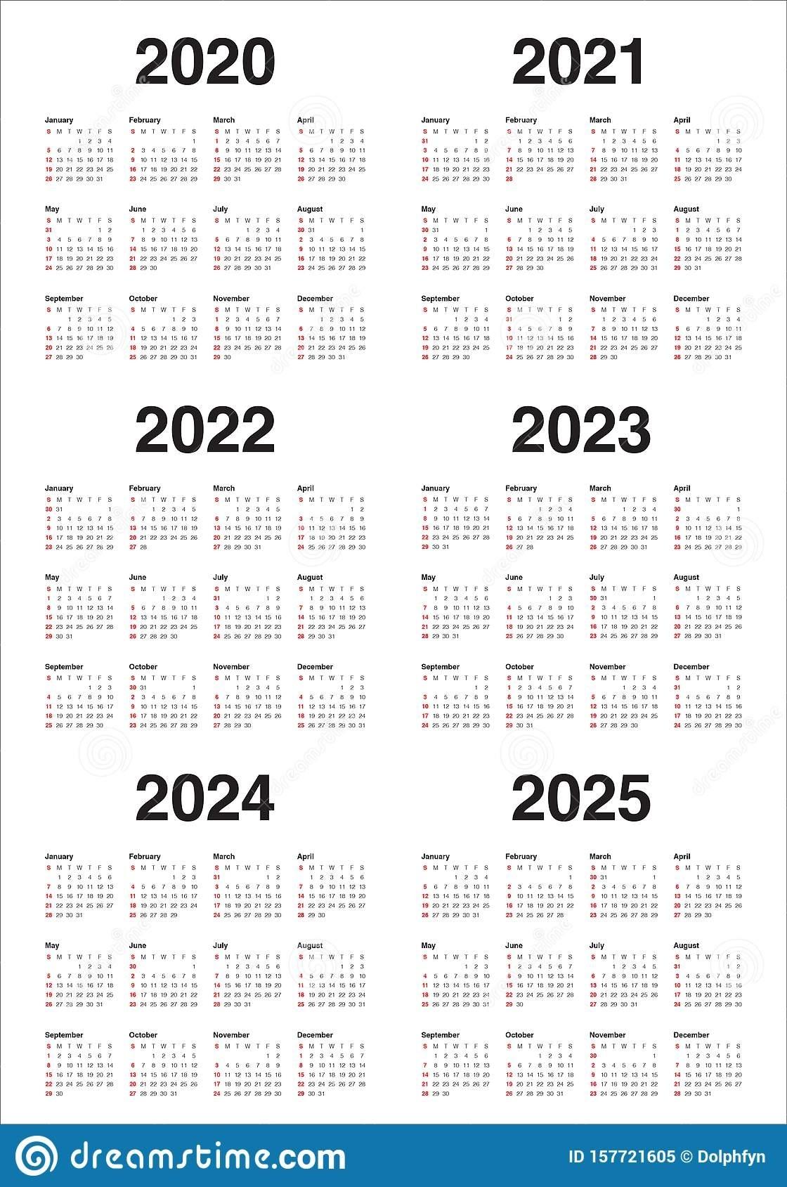 Perky Calendar 2020 To 2025 • Printable Blank Calendar ...