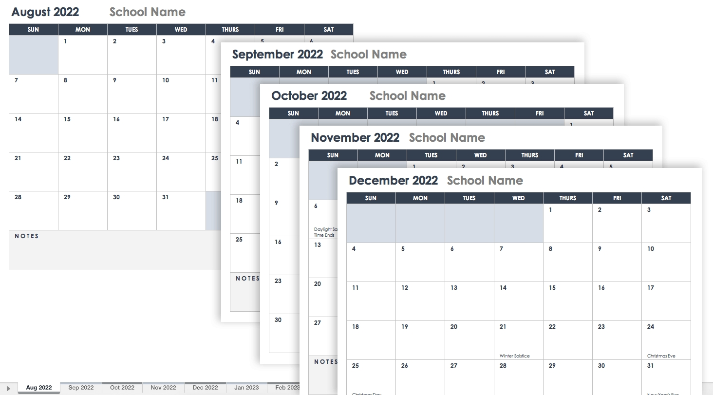 15 Free Monthly Calendar Templates | Smartsheet Calendar Template Mac 10.14