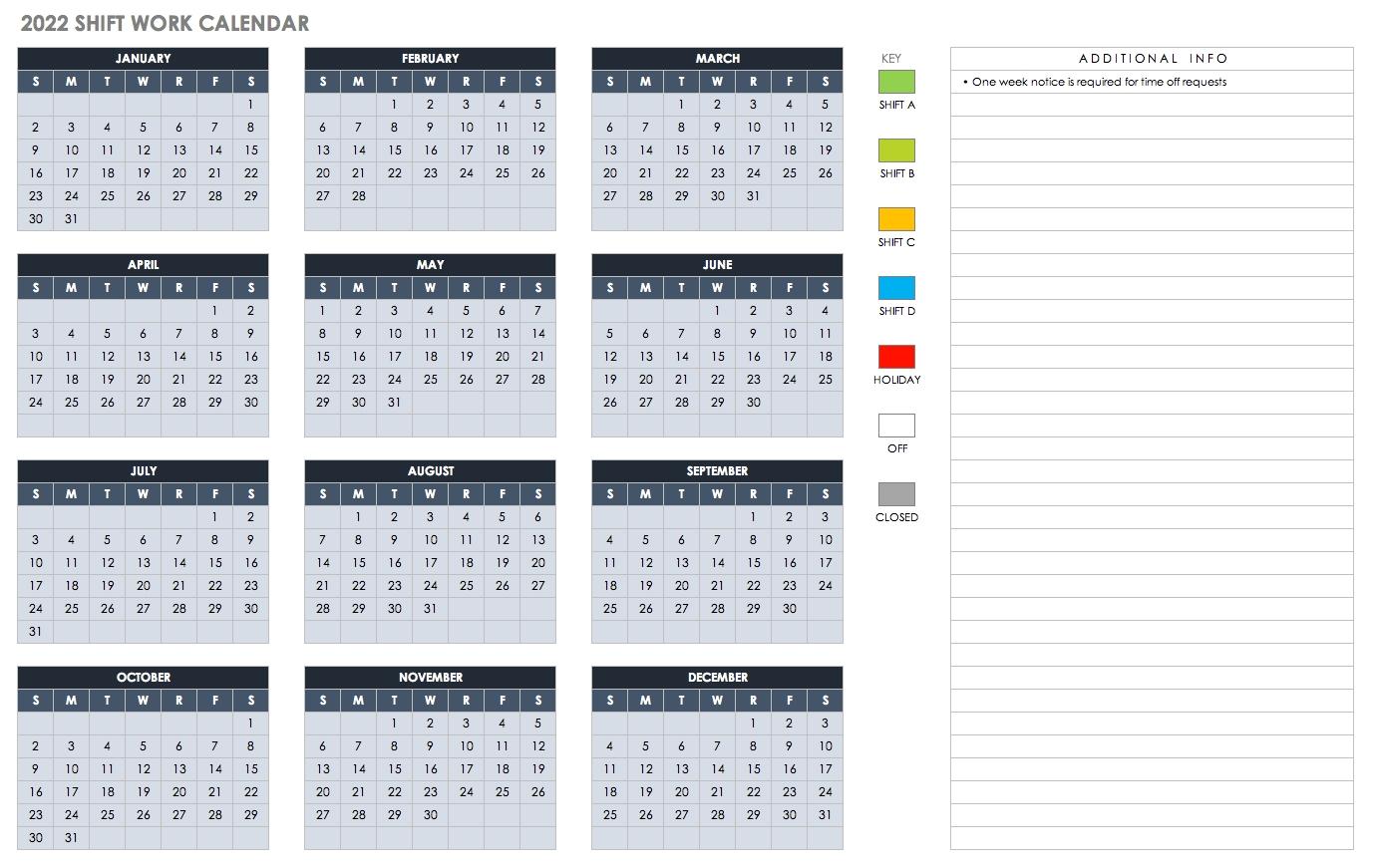 15 Free Monthly Calendar Templates   Smartsheet Excel Calendar Template Quarterly