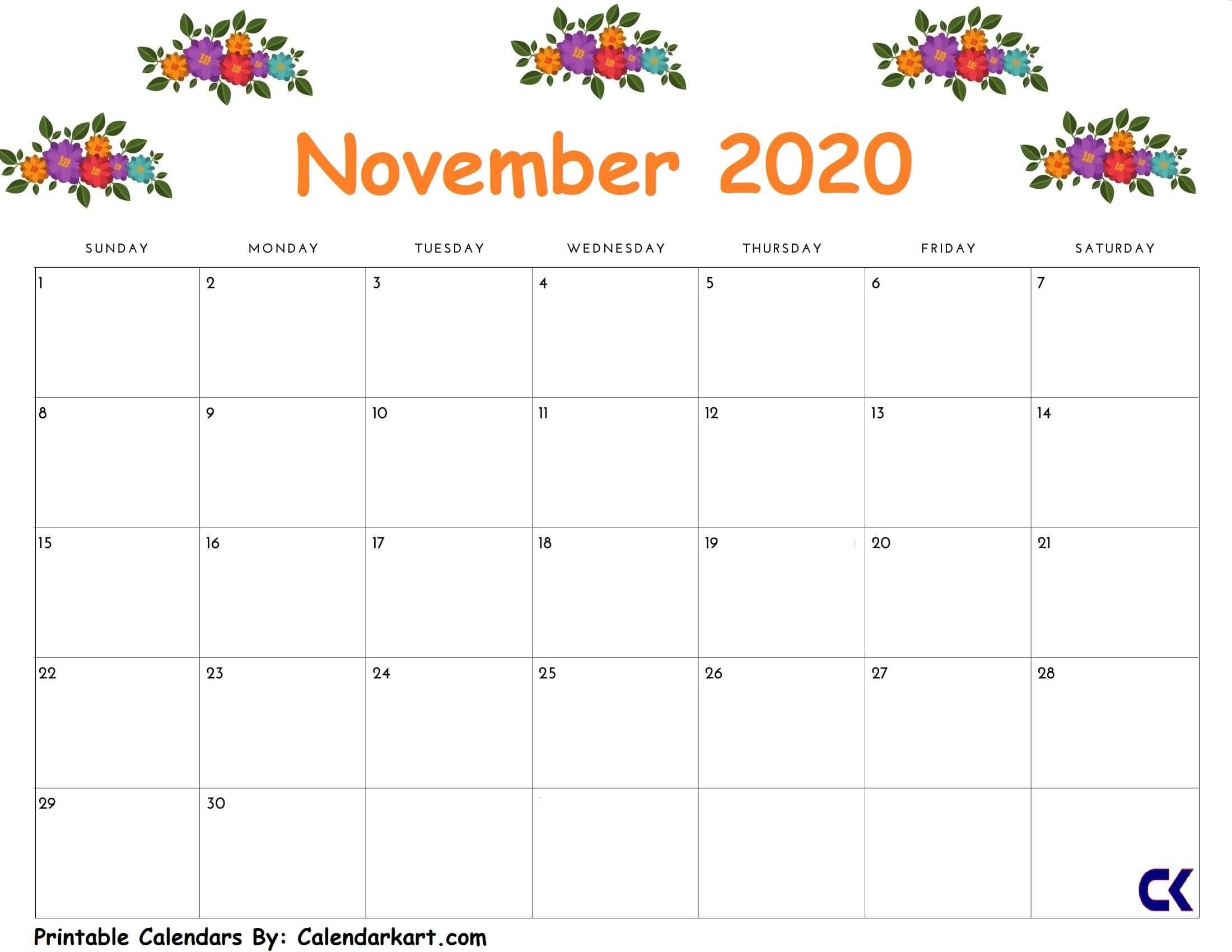 2019 November Calendar Printables | Teaching Resources November Calendar Template Kindergarten