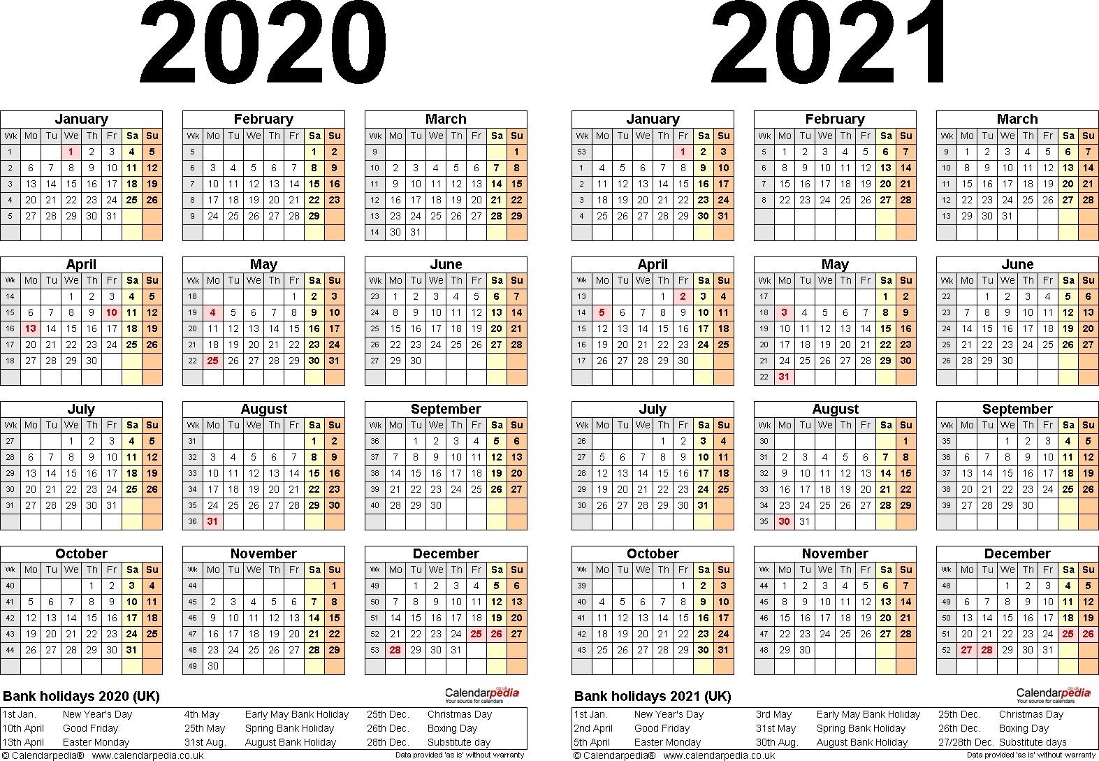 2020 And 2021 Calendar Printable With Explanation   Free Print 2021 Broadcast Calendar