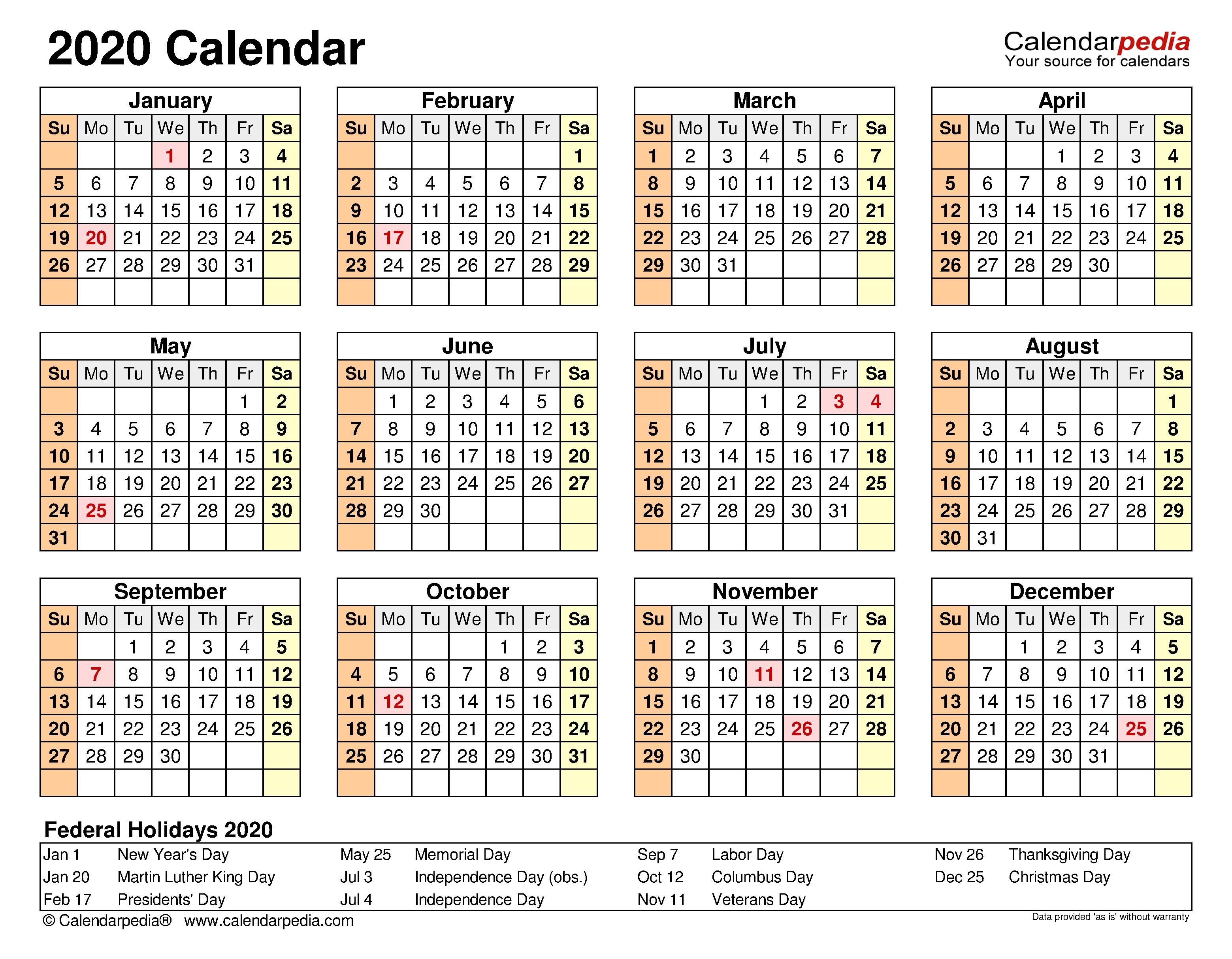 2020 Calendar - Free Printable Excel Templates - Calendarpedia 2021 Myanmar Calendar Microsoft Office
