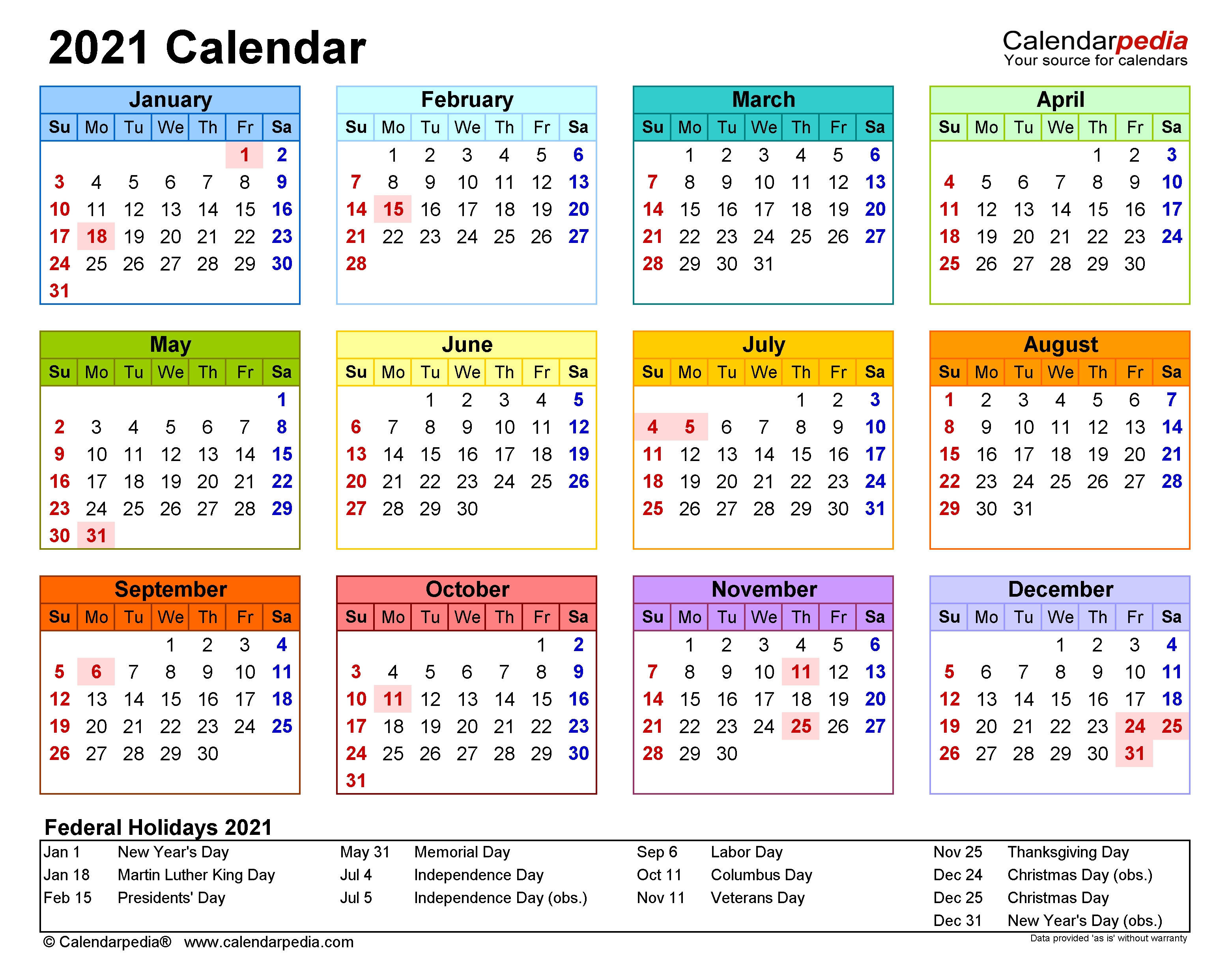 2021 Calendar - Free Printable Excel Templates - Calendarpedia 2021 Myanmar Calendar Microsoft Office
