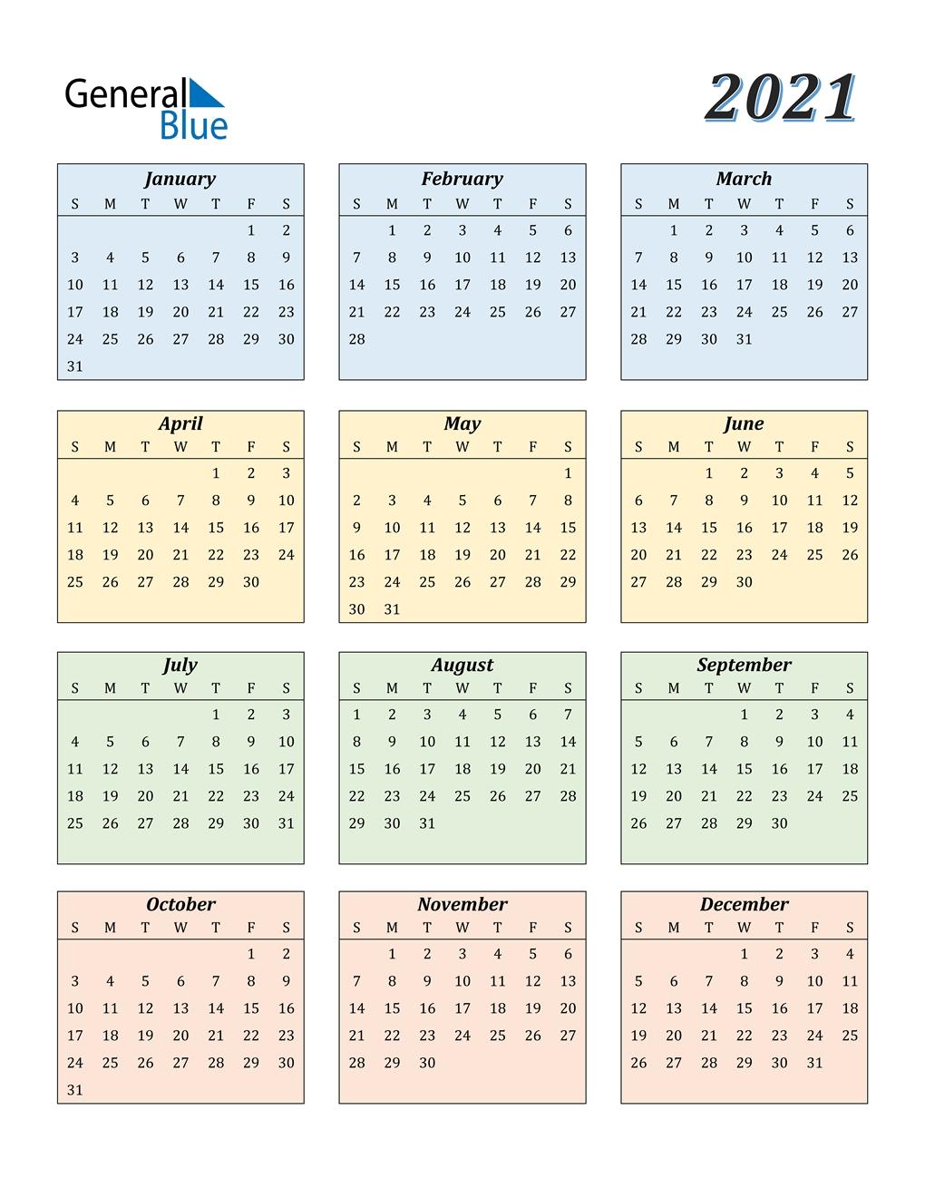 2021 Calendar In Excel Free • Printable Blank Calendar ...