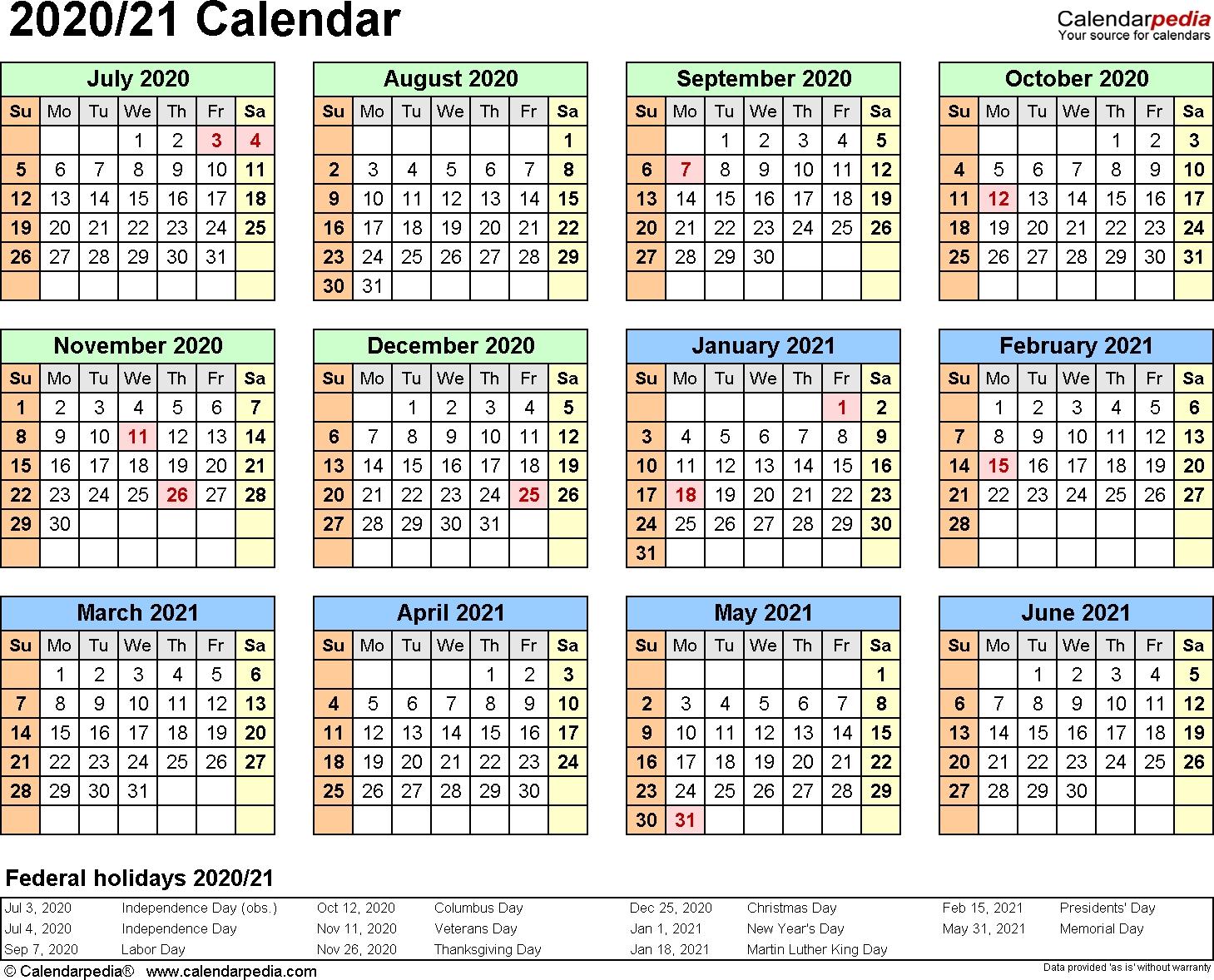 3 Year Calendar 2020 To 2021 Excel | Calendar For Planning 2021 Calendar Hk