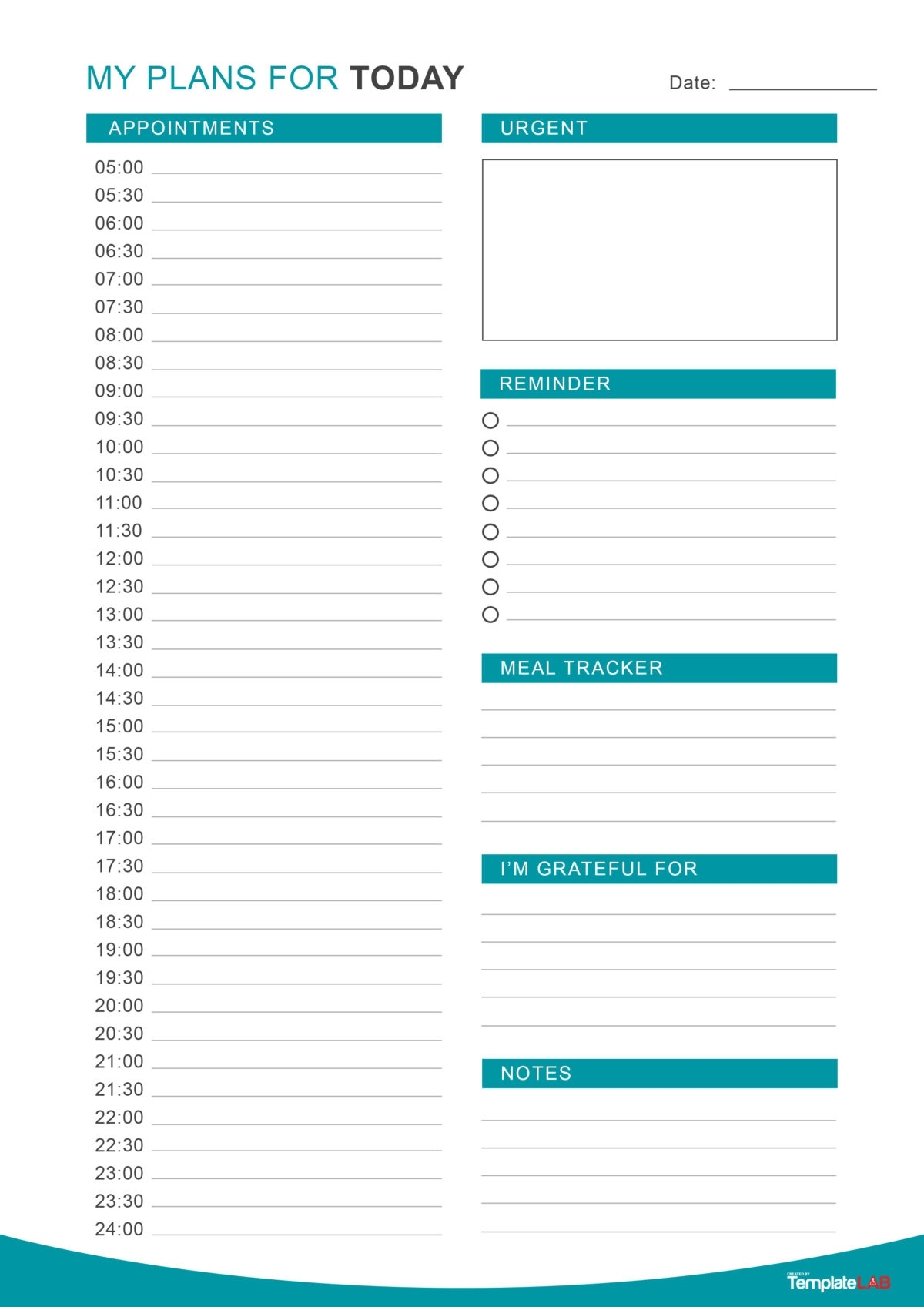 47 Printable Daily Planner Templates (Free In Word/Excel/Pdf) Calendar Template Daily Planner