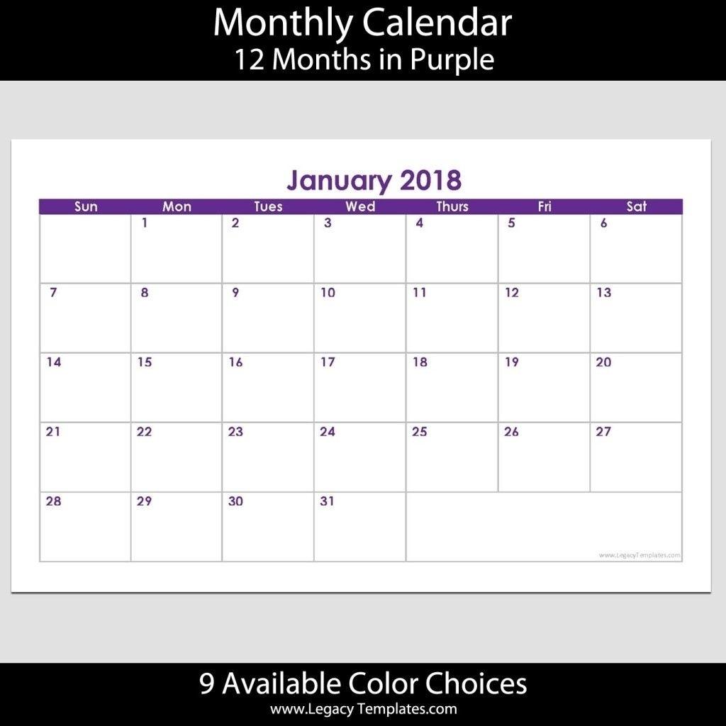 5.5 X 8.5 Calendar Template In 2020 | Calendar Template Calendar Template 5.5 X 8.5