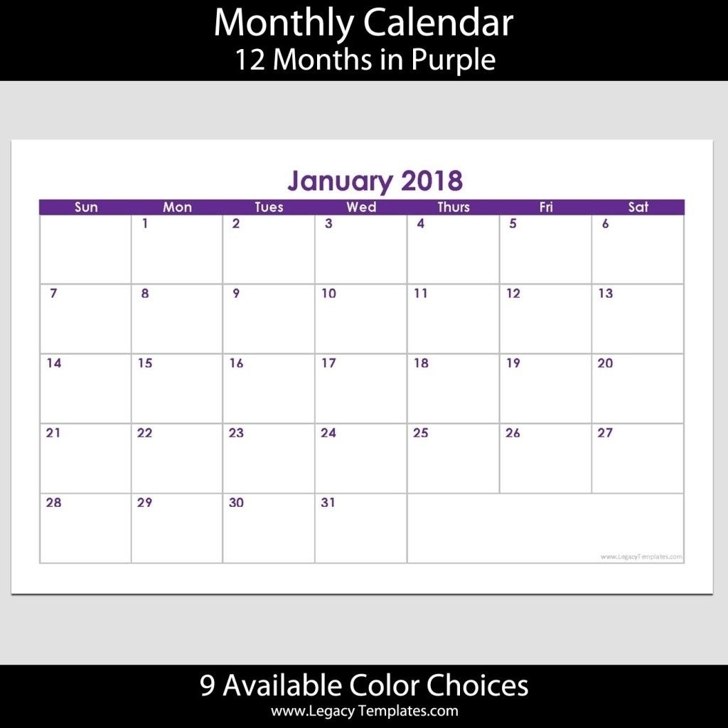 5.5 X 8.5 Calendar Template In 2020 | Calendar Template Calendar Template 8.5 X 5.5