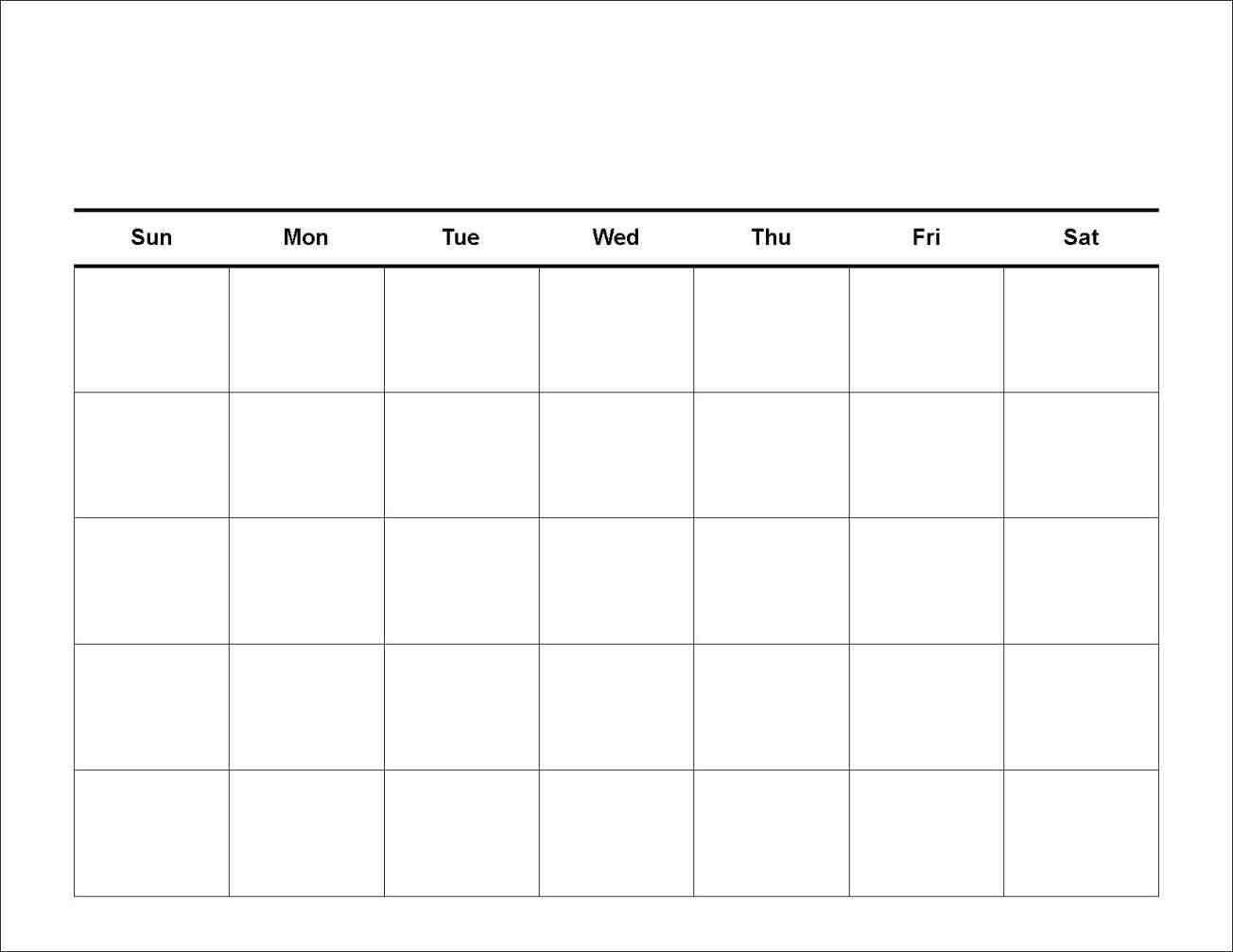 7 Day Calendar Template | Free Printable Calendar Templates 7 Day Calendar Template