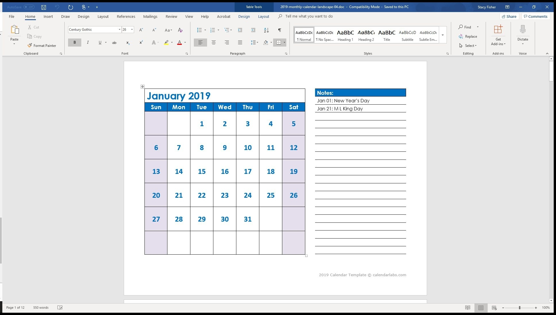 7 Top Place To Find Free Calendar Templates For Word Calendar Template In Word For Mac