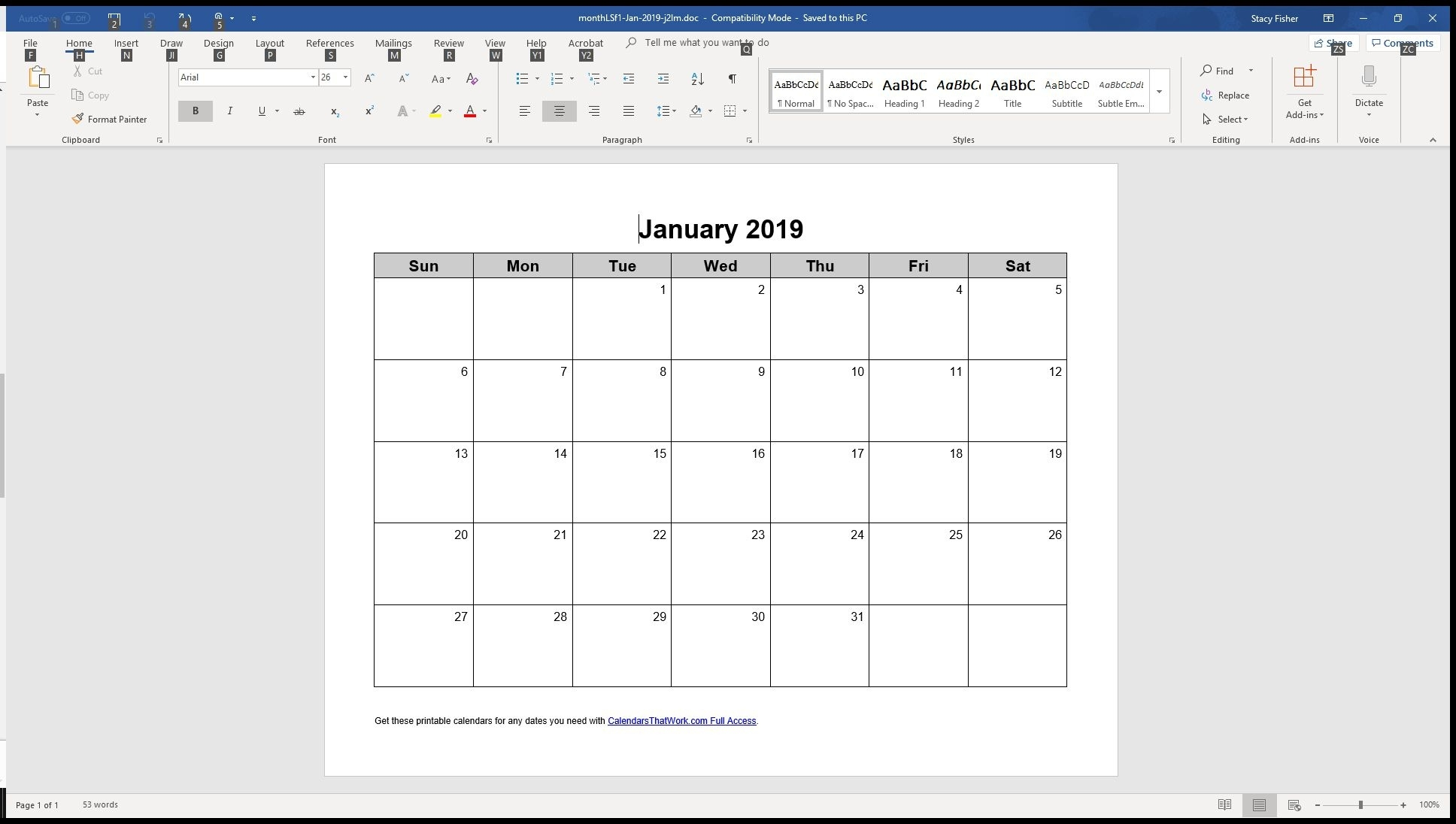 7 Top Place To Find Free Calendar Templates For Word Calendar Template That Can Be Edited