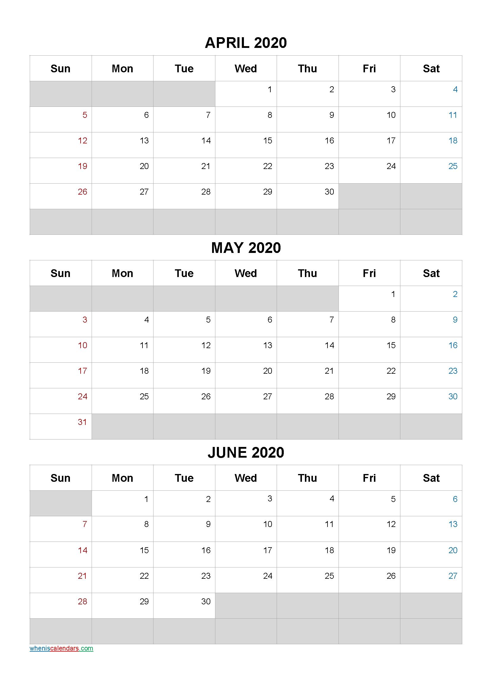April May June 2021 Free Printable 3 Month Calendar-21Ar5 Free Printable 3 Month Calendar 2021