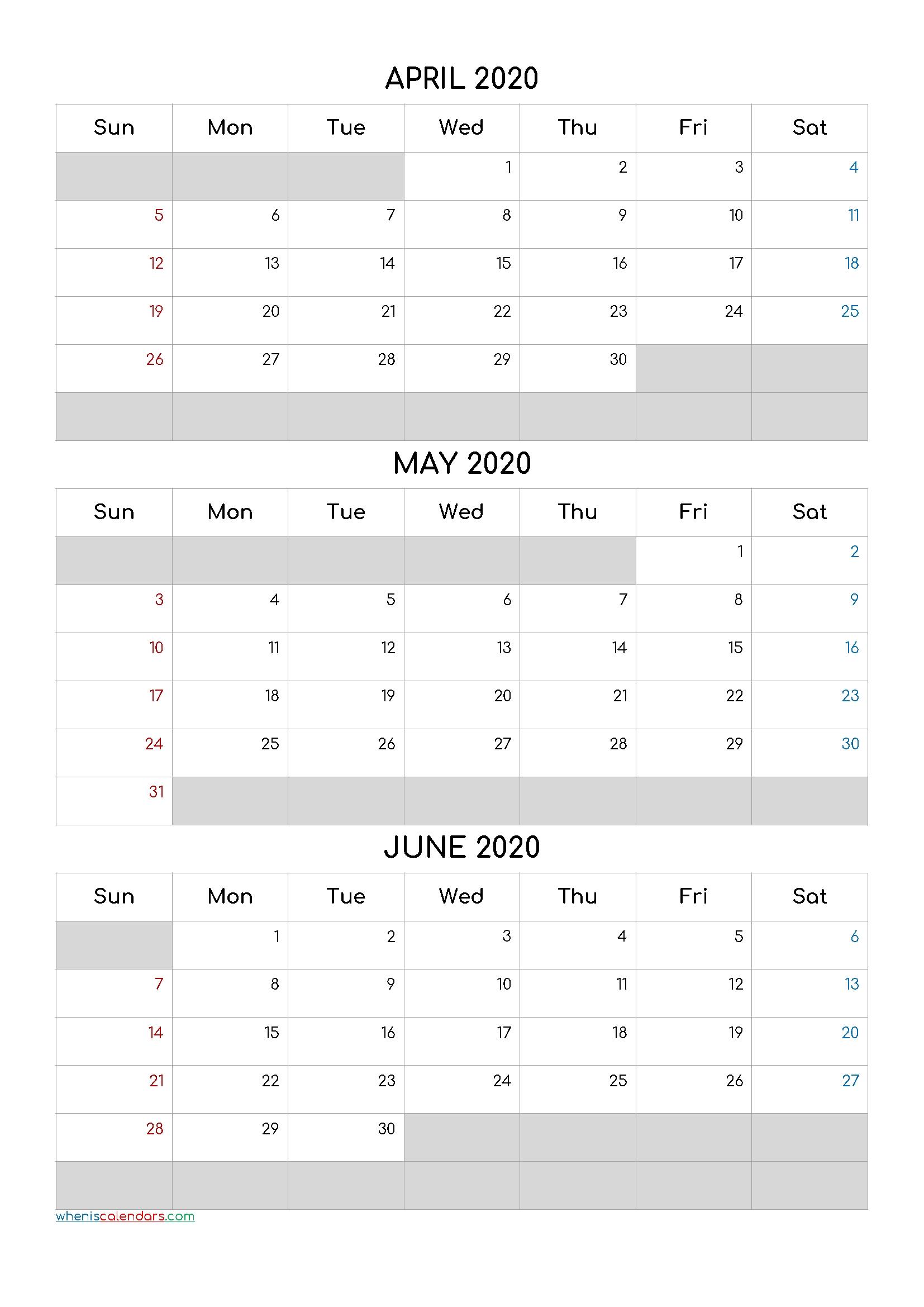 April May June 2021 Free Printable 3 Month Calendar-21Cf5 Free Printable 3 Month Calendar 2021