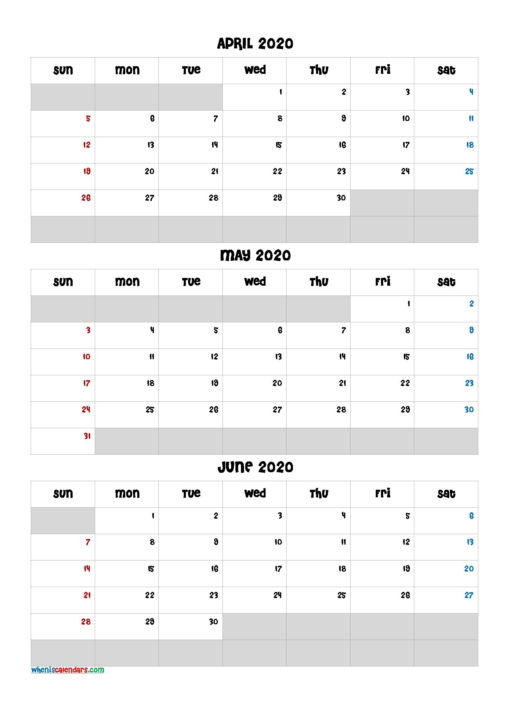 April May June 2021 Free Printable 3 Month Calendar-21Ch5 Free Printable 3 Month Calendar 2021