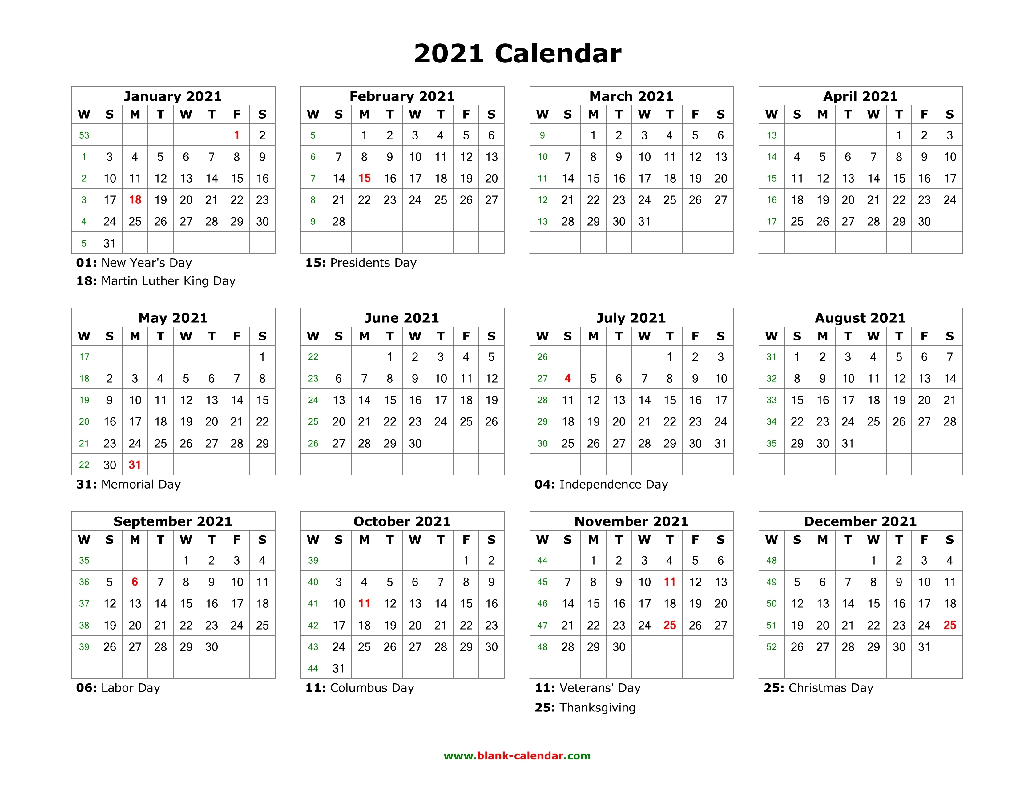 Blank Calendar 2021 | Free Download Calendar Templates 2021 Myanmar Calendar Microsoft Office