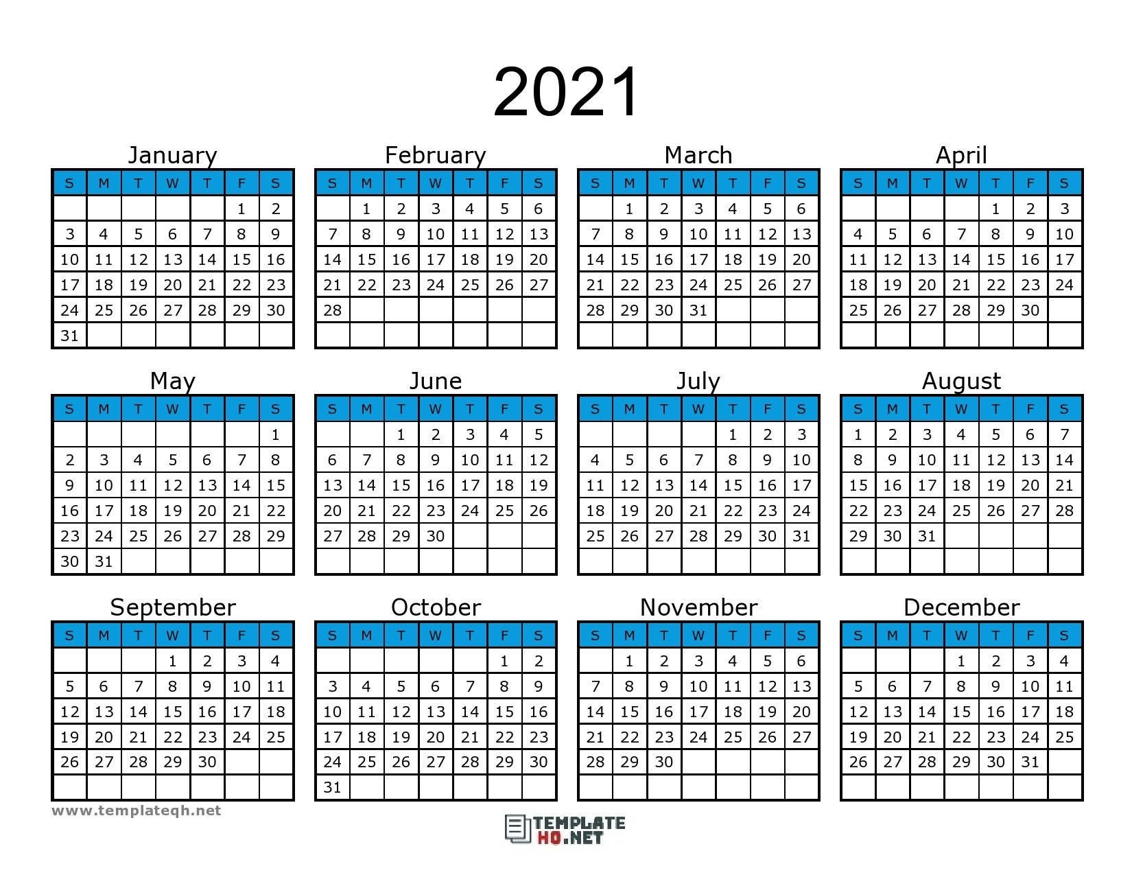 Calendar 2021 To Print Free Simple For All Users   Free Print 2021 Broadcast Calendar