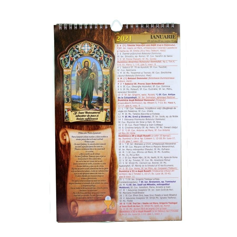 Calendar De Perete Crestin Ortodox 2021, Format A4 + Carticica De Rugaciuni  Cadou Calendar Ortodox Mai 2021