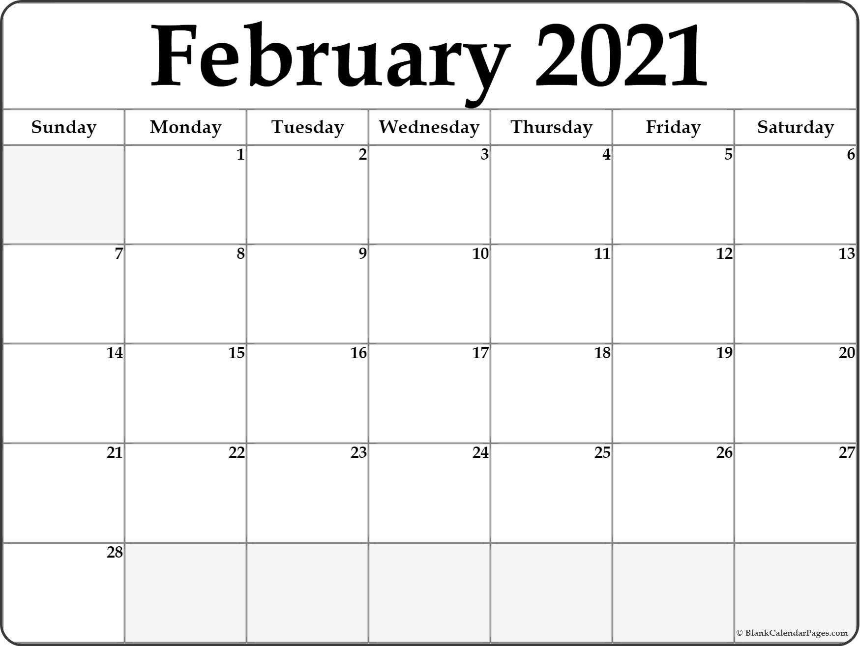 Calendar February 2021 Editable Planner In 2020 | February Printable 3 Months At A Time Calendar 2021