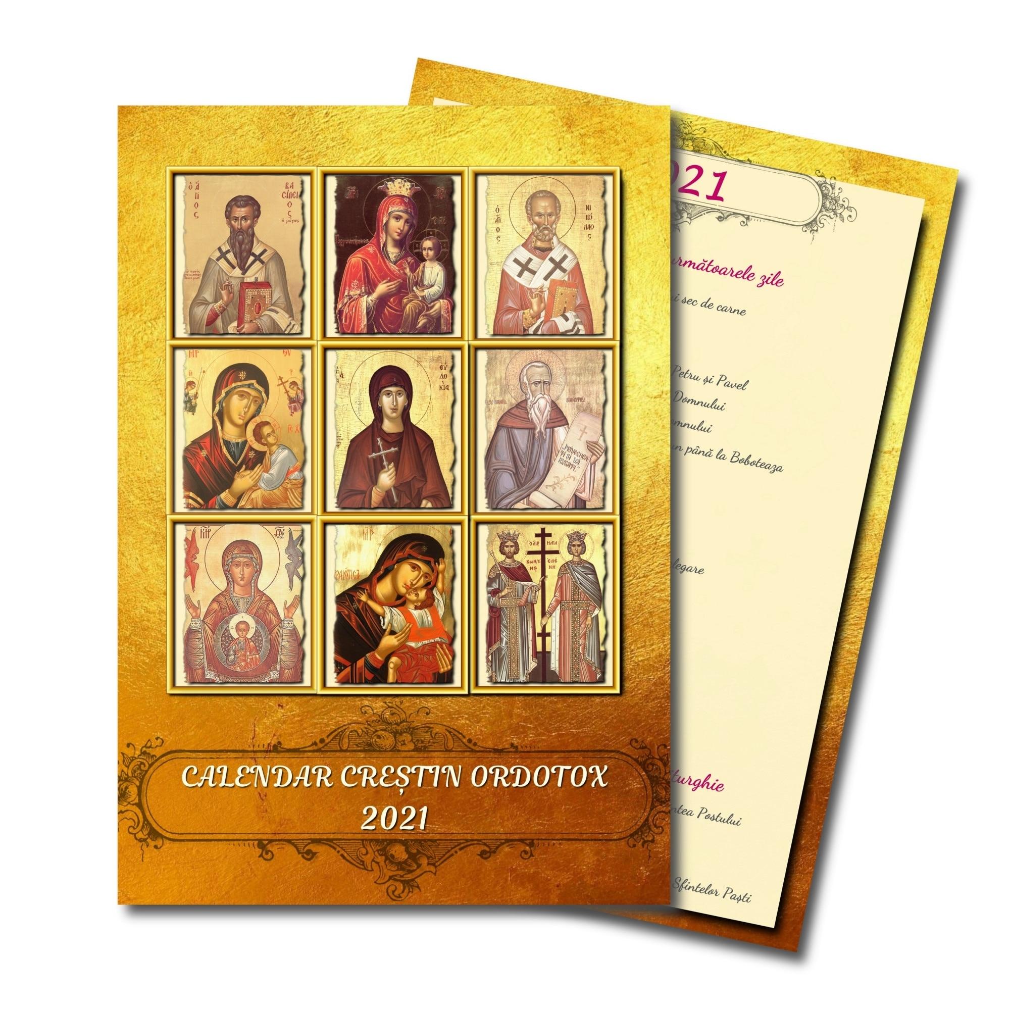 Calendar Crestin Ortodox 2021 • Printable Blank Calendar ...