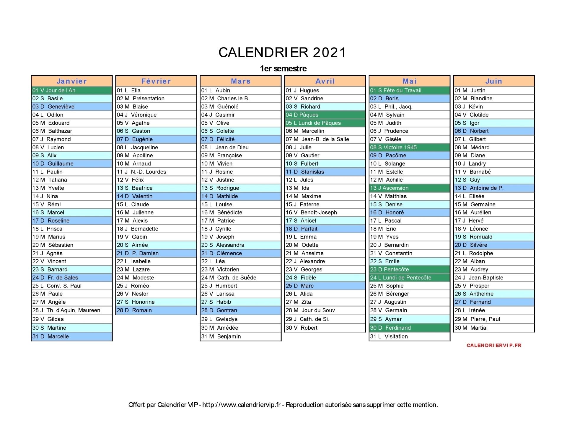 Calendrier 2021 À Imprimer Gratuit En Pdf Et Excel Calendrier À Imprimer 2021