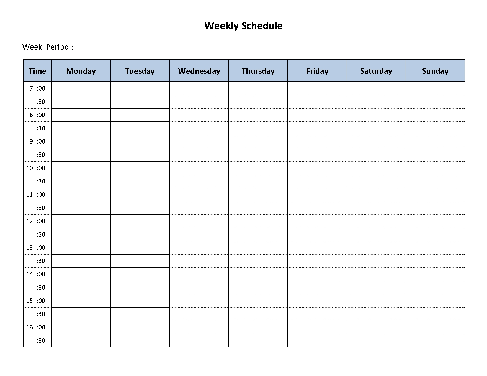 Construction Schedule Template Excel Free Download | Weekly Calendar Template Excel Free