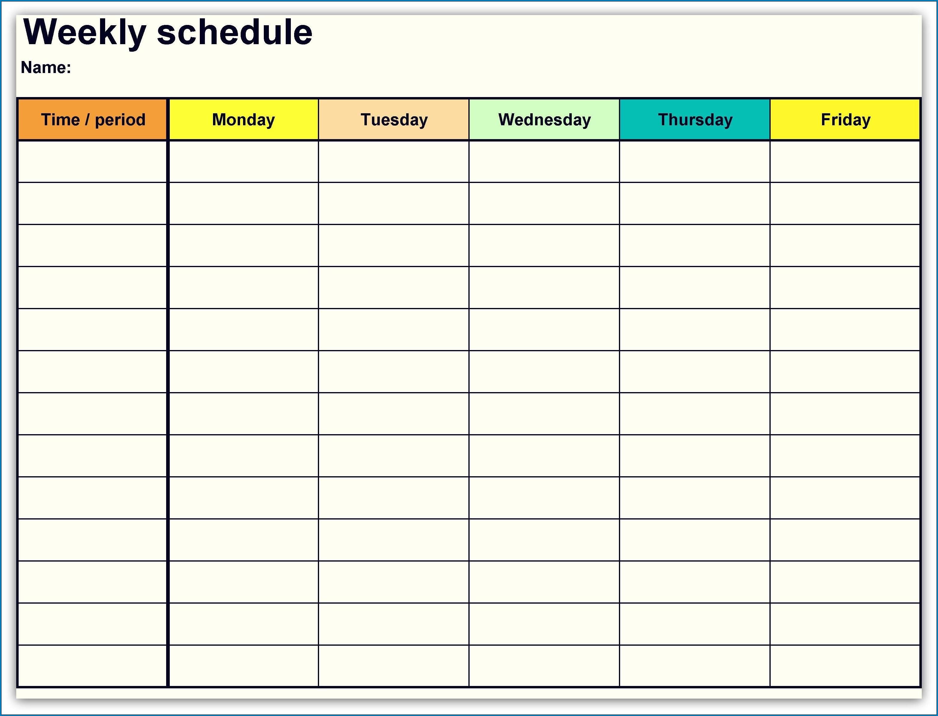 √ Free Printable Weekly Calendar Template | Templateral Free Calendar Weekly Template