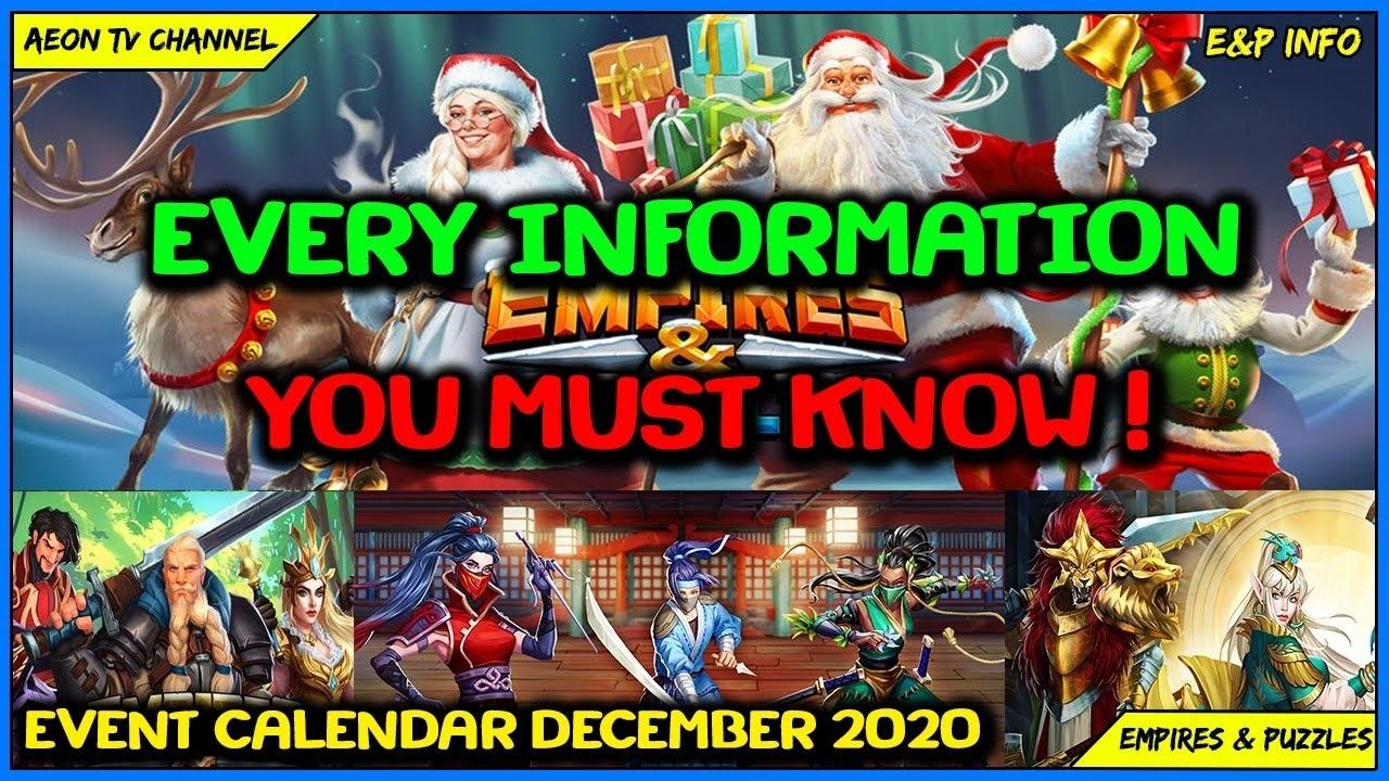 Event Calendar December 2020 - Empires And Puzzles |E&P Info December Calendar 2021 Empire And Puzzles
