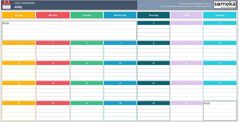 Excel Calendar Template 2020 - Free Printable Calendar Calendar Template Excel Free