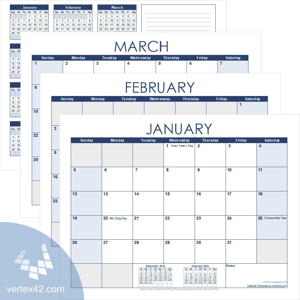 Excel Calendar Template For 2020 And Beyond Excel Calendar Template Quarterly