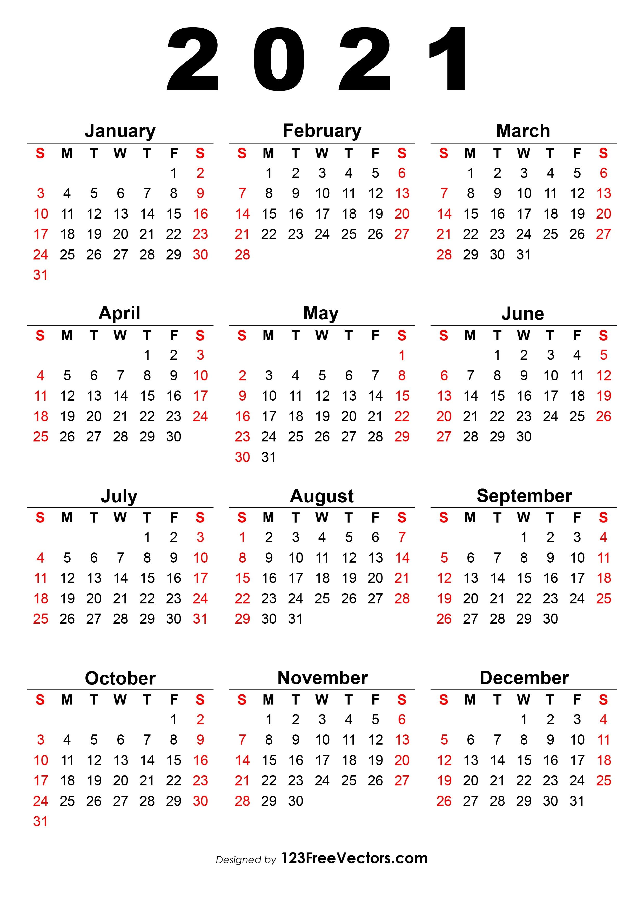 Free 2021 Calendar One Page Calendar 2021 August Kannada