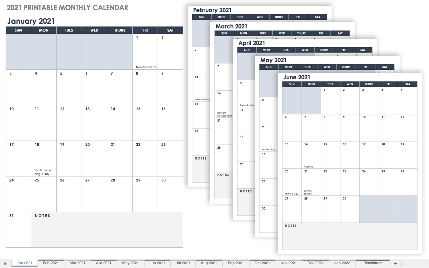 Free Blank Calendar Templates - Smartsheet Calendar Template That Can Be Edited