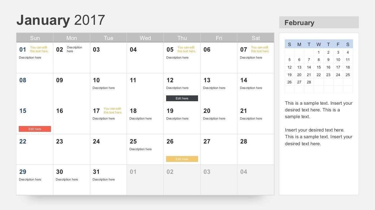 Free Calendar 2017 Template For Powerpoint Free Calendar Event Template