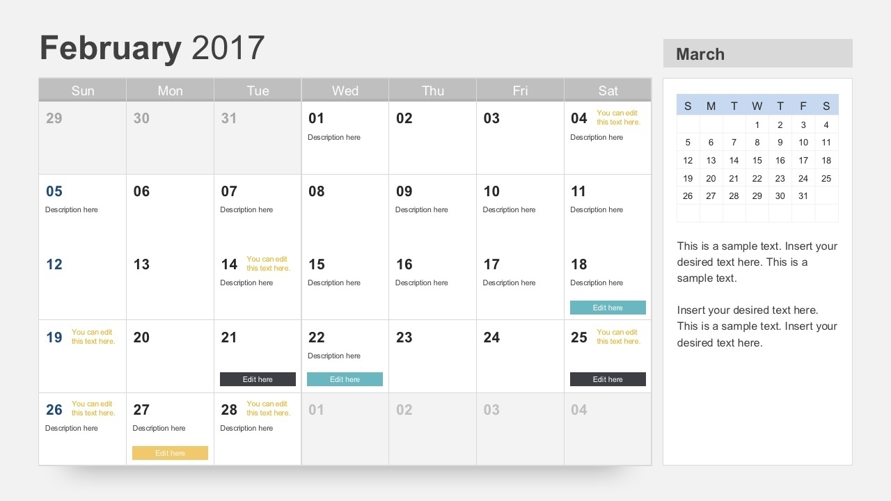 Free Calendar 2017 Template Free Keynote Calendar Template