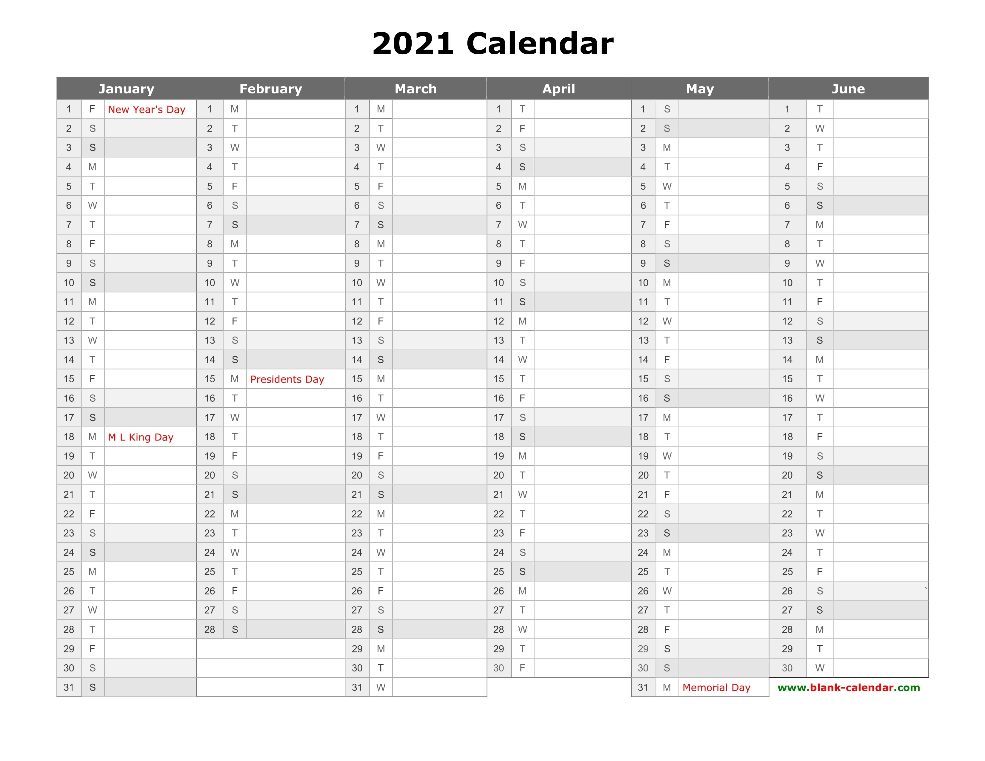 Free Download Printable Calendar 2021, Month In A Column Printable 3 Months At A Time Calendar 2021