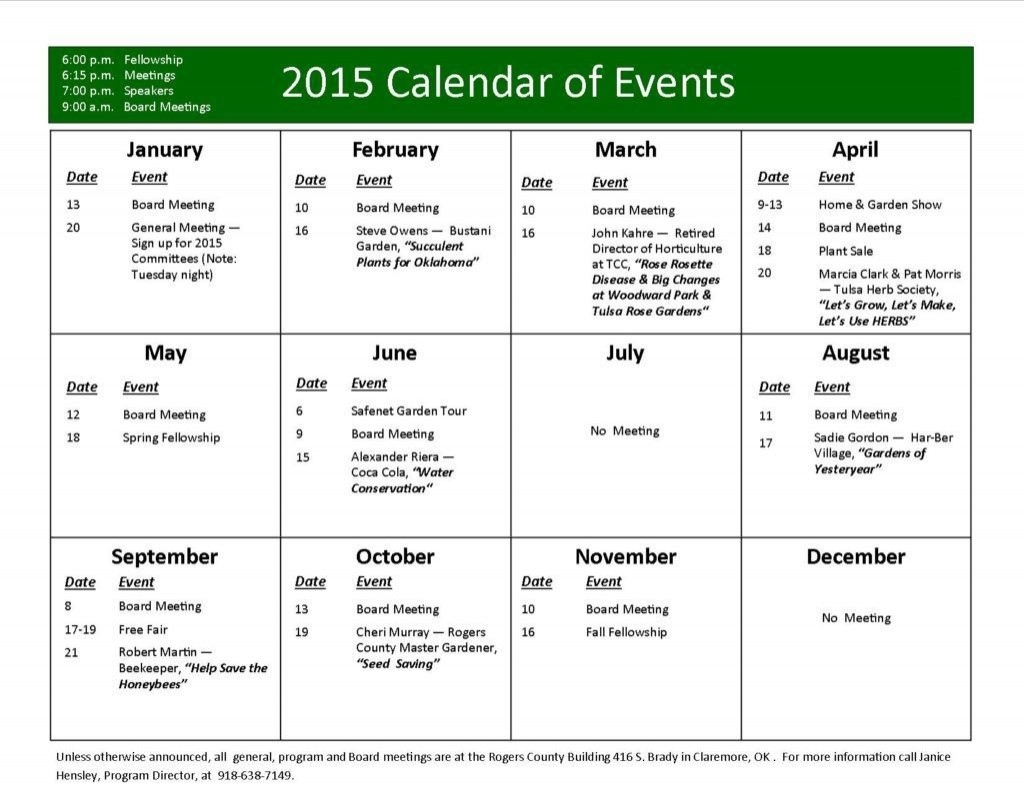 Free Event Calendar Template ~ Addictionary Free Calendar Event Template