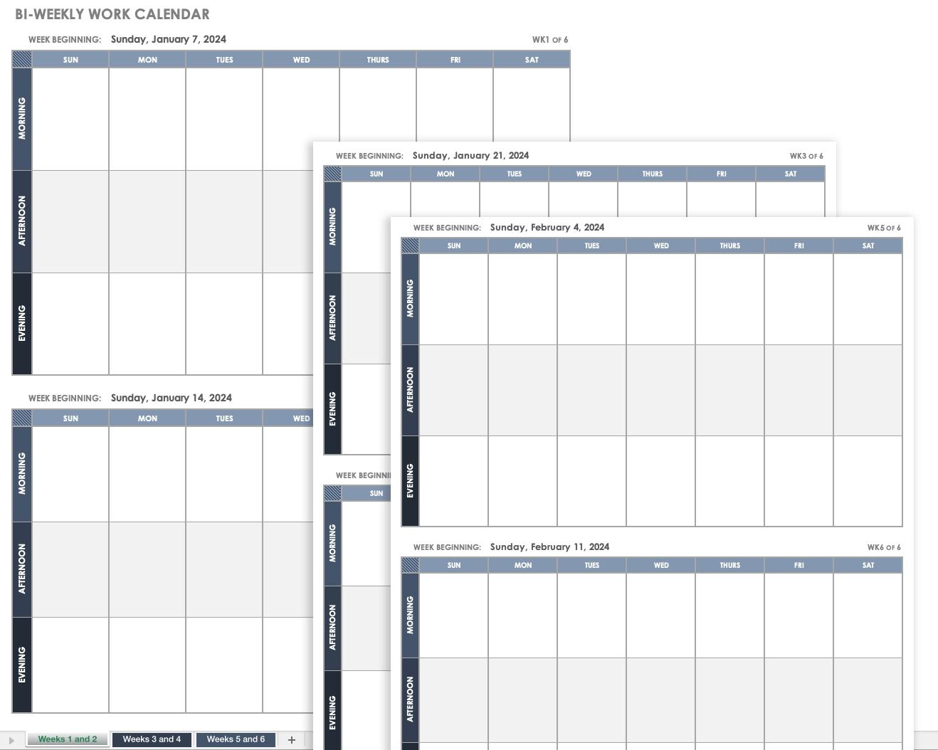Free Excel Calendar Templates Excel Calendar Template Quarterly