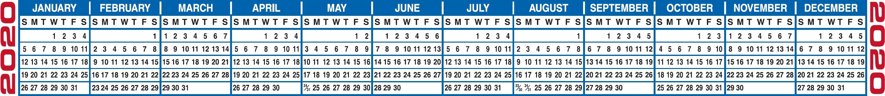 Free Printable 2021 Calendars & 2021 Calendar Strips Print 2021 Broadcast Calendar