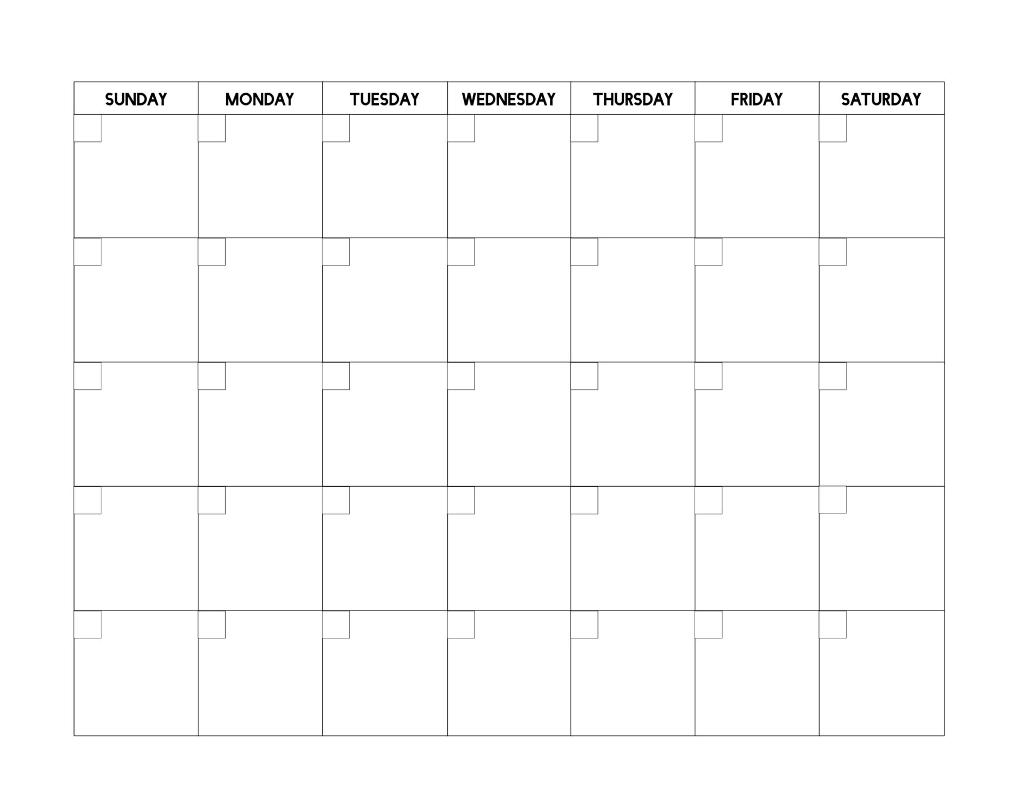 Free Printable Blank Calendar Template   Paper Trail Design Calendar Template In Pages