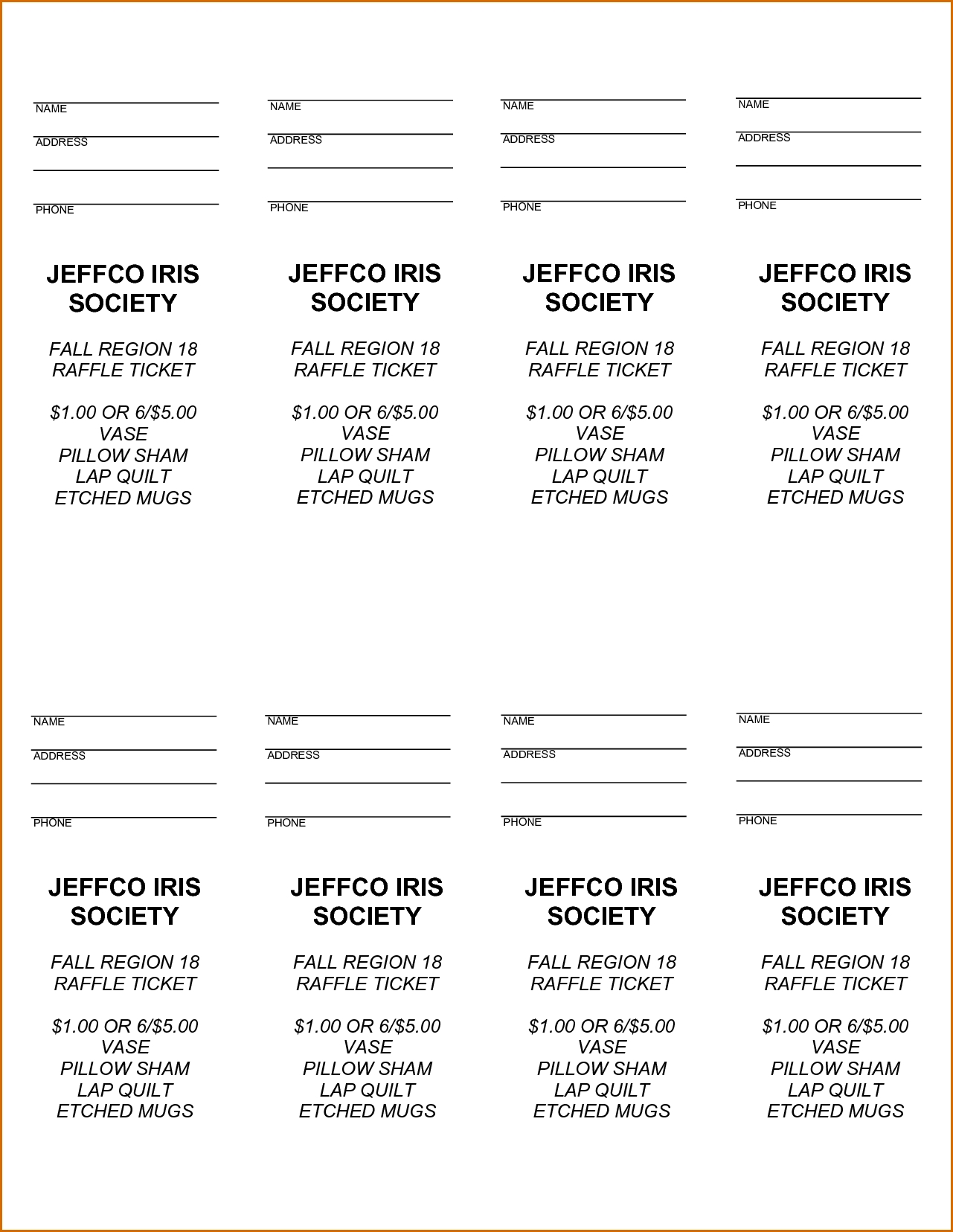 Free Printable Raffle Tickets - Free Printable Raffle Ticket Free Calendar Raffle Template