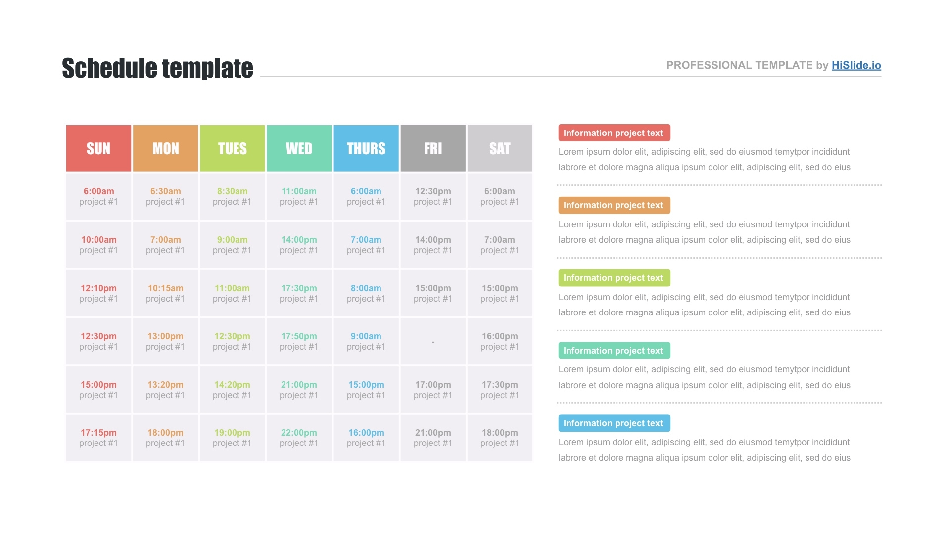 Free Schedule Template For Keynote - Download Now! Free Keynote Calendar Template